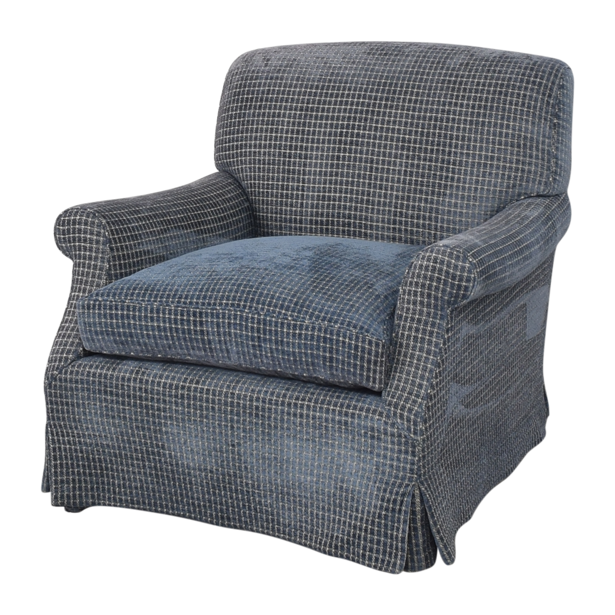 shop Skirted Accent Chair with Ottoman  Chairs