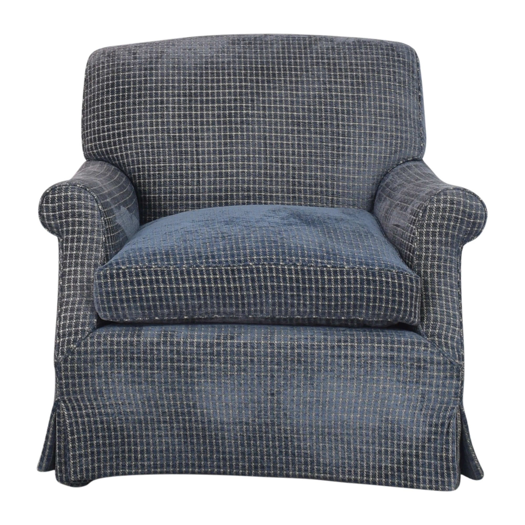 Skirted Accent Chair with Ottoman / Accent Chairs