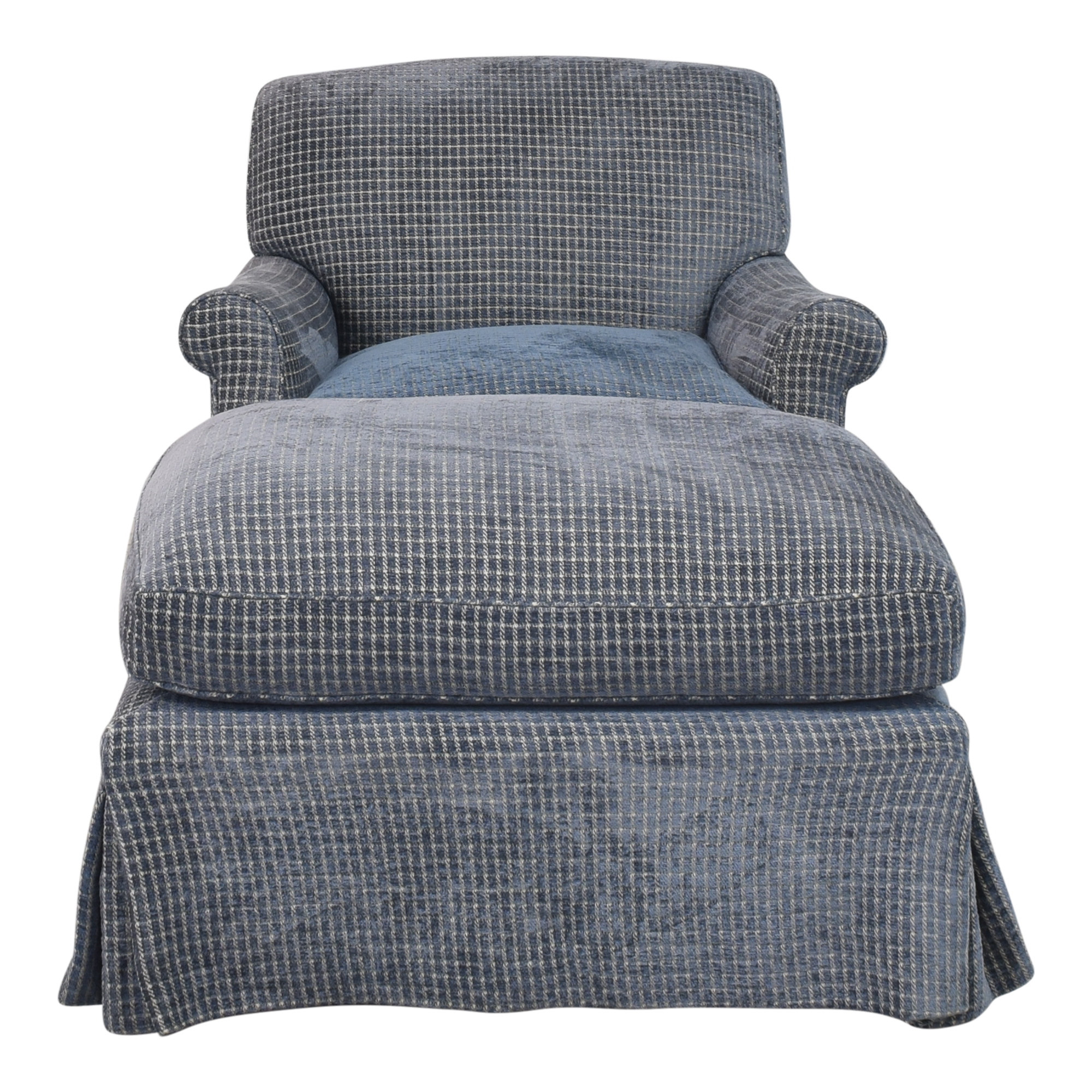 buy Skirted Accent Chair with Ottoman