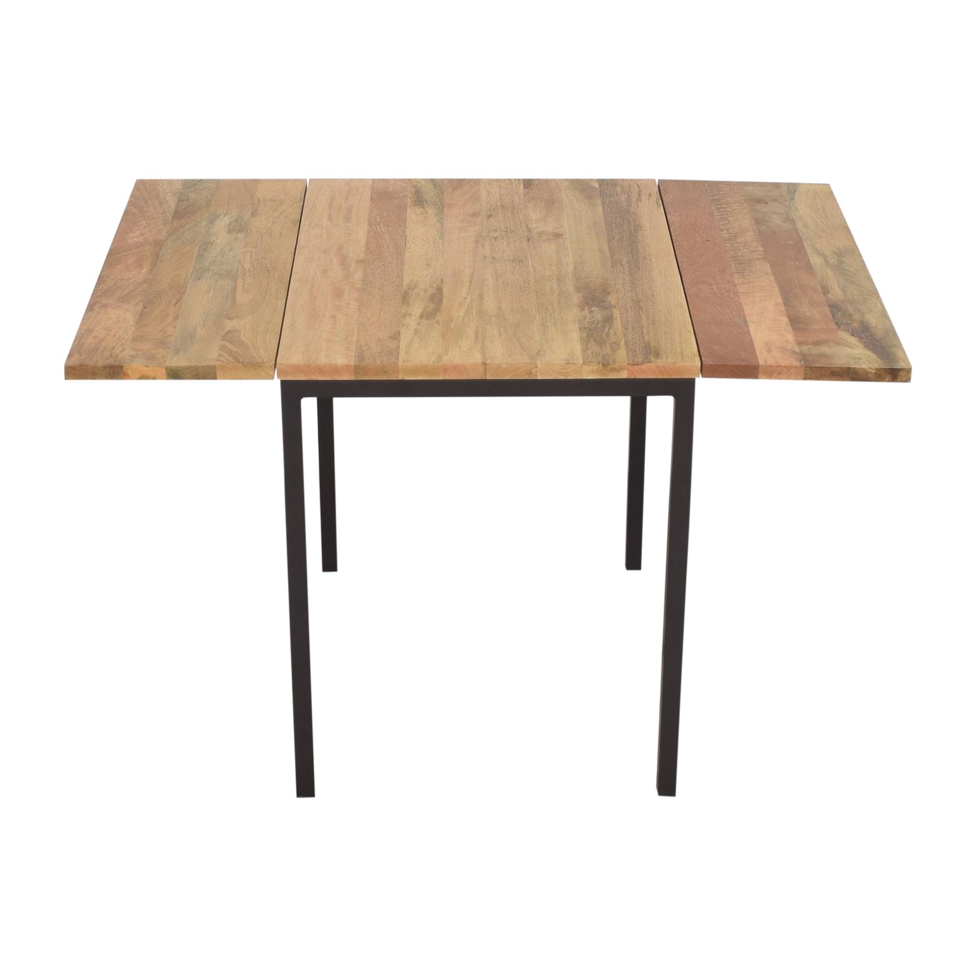 West Elm West Elm Box Frame Drop Leaf Table brown and dark gray