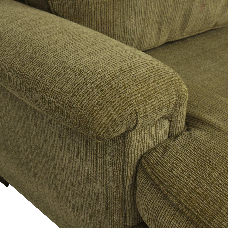 Bauhaus Furniture Bauhaus Sectional Sleeper Sofa olive green