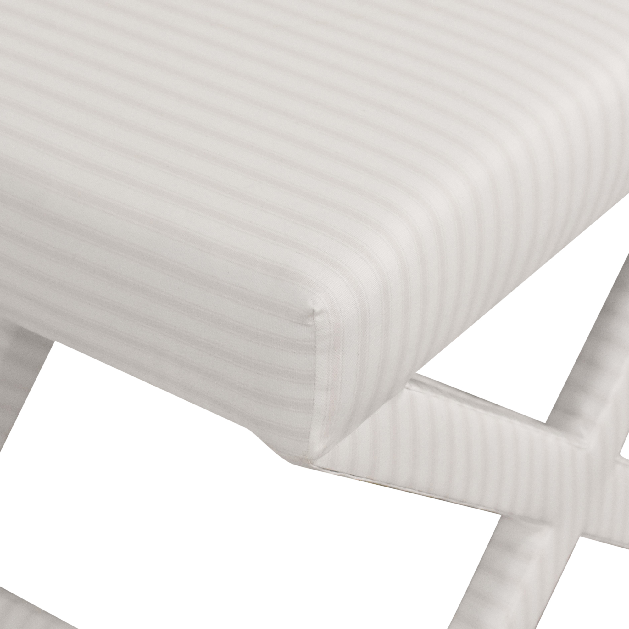 The Inside The Inside Classic Ticking Stripe X Bench light pink and white