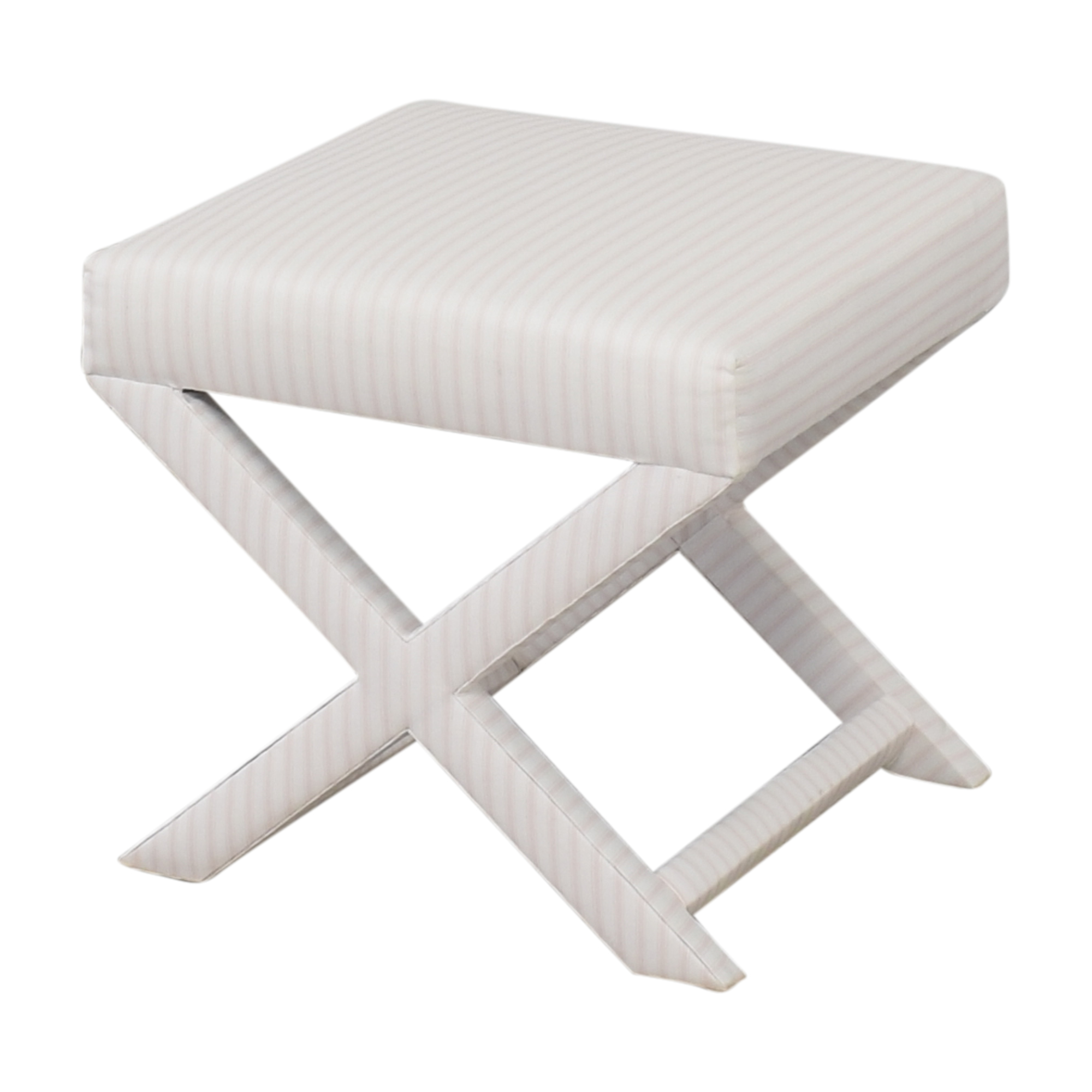 The Inside The Inside Classic Ticking Stripe X Bench Ottomans