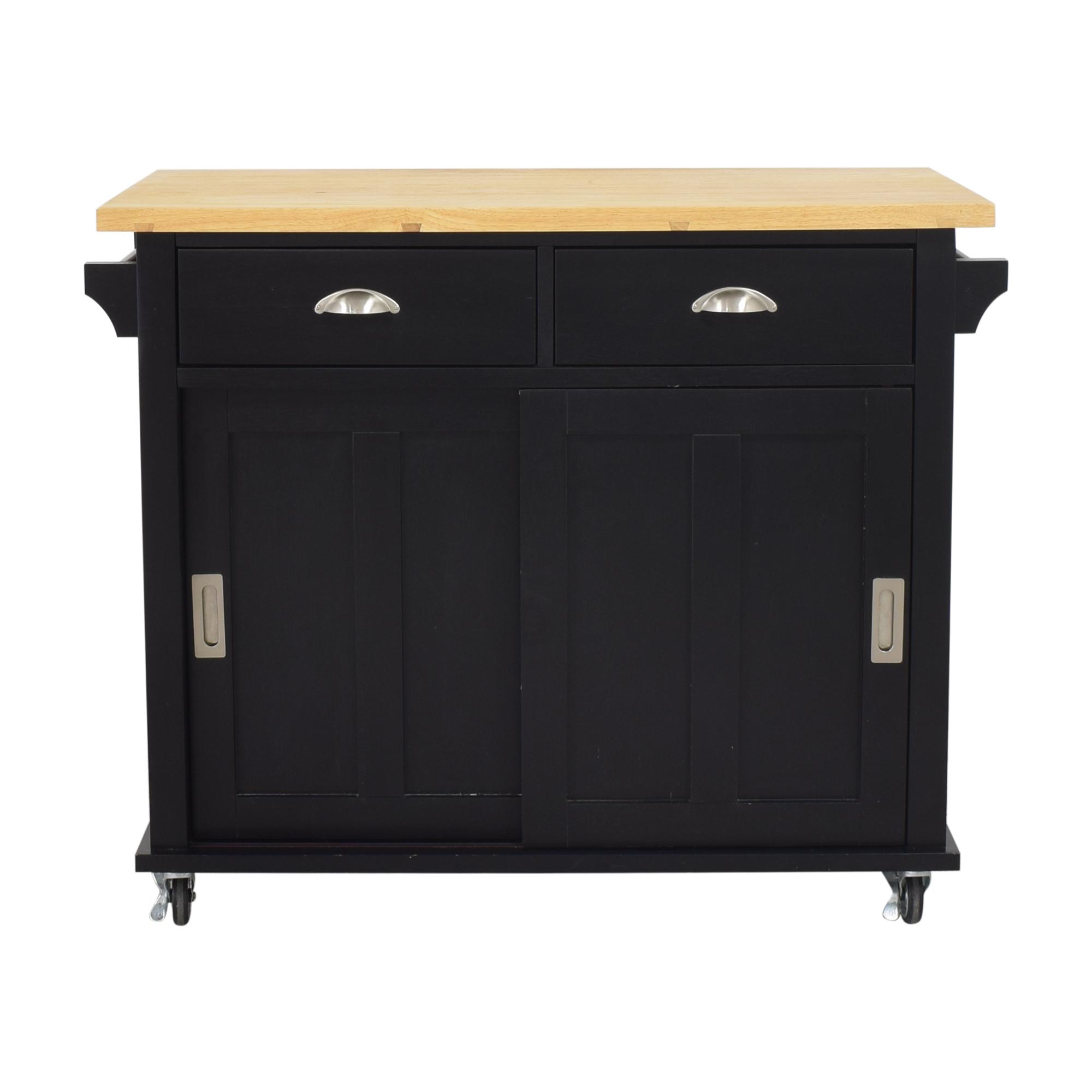 Crate & Barrel Belmont Kitchen Island Cart / Tables