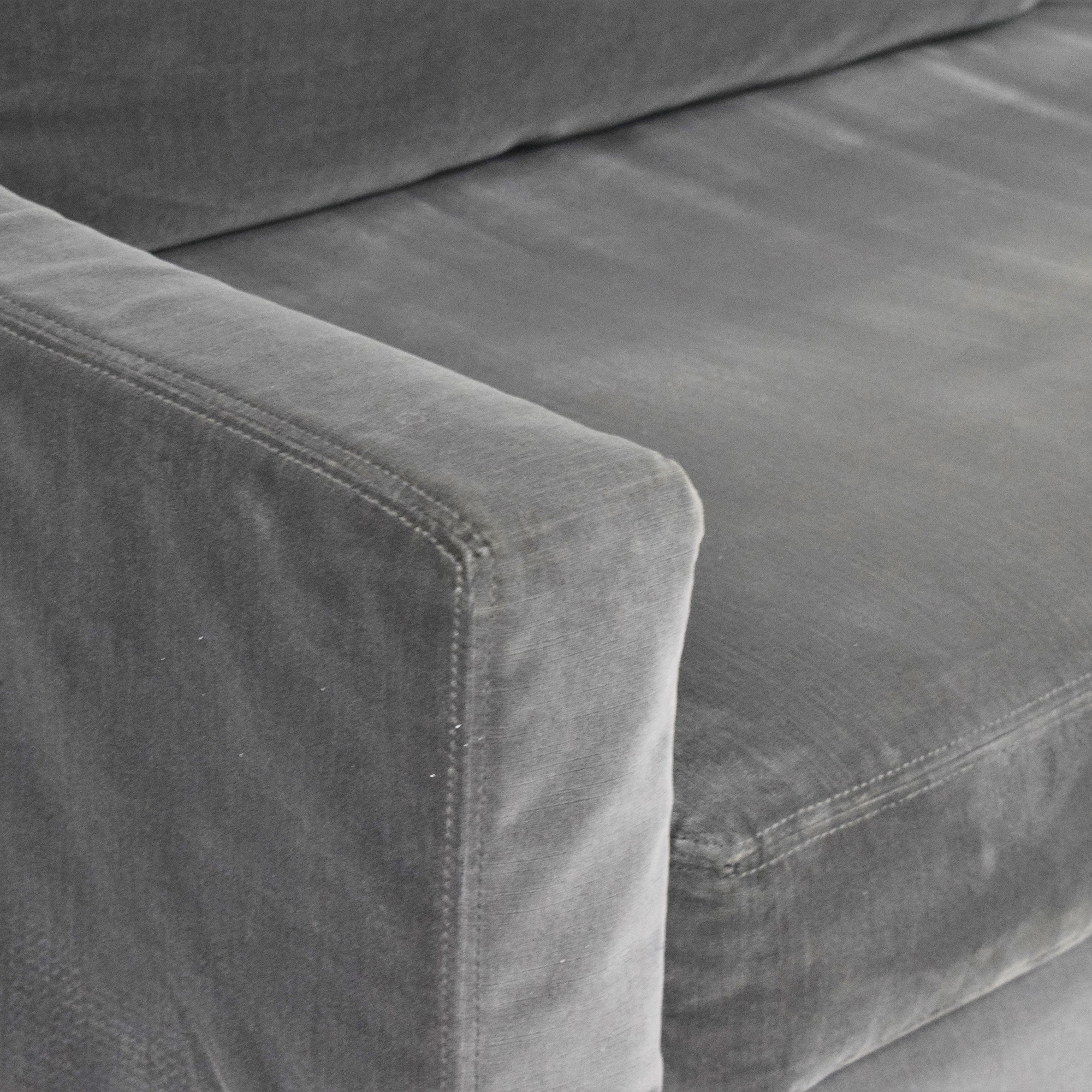Restoration Hardware Restoration Hardware Belgian Classic Slope Arm Slipcovered Sofa coupon