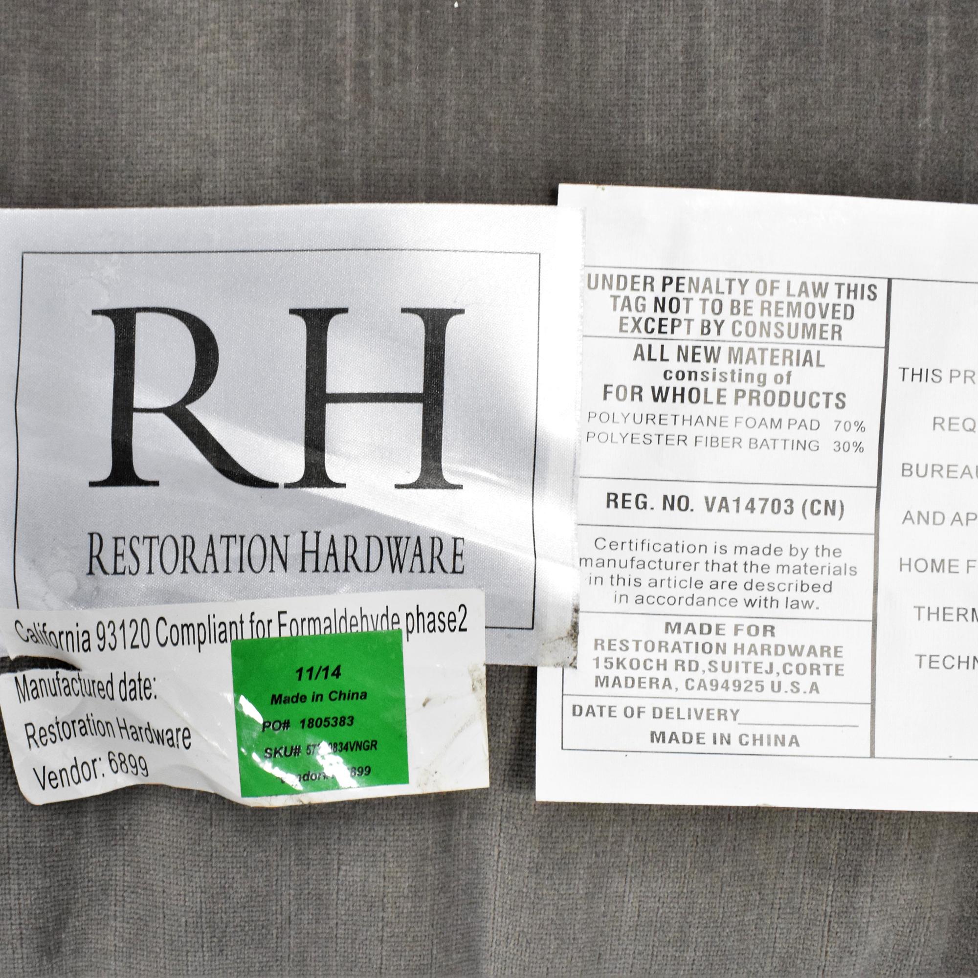 buy Restoration Hardware Restoration Hardware Belgian Classic Slope Arm Slipcovered Sofa online
