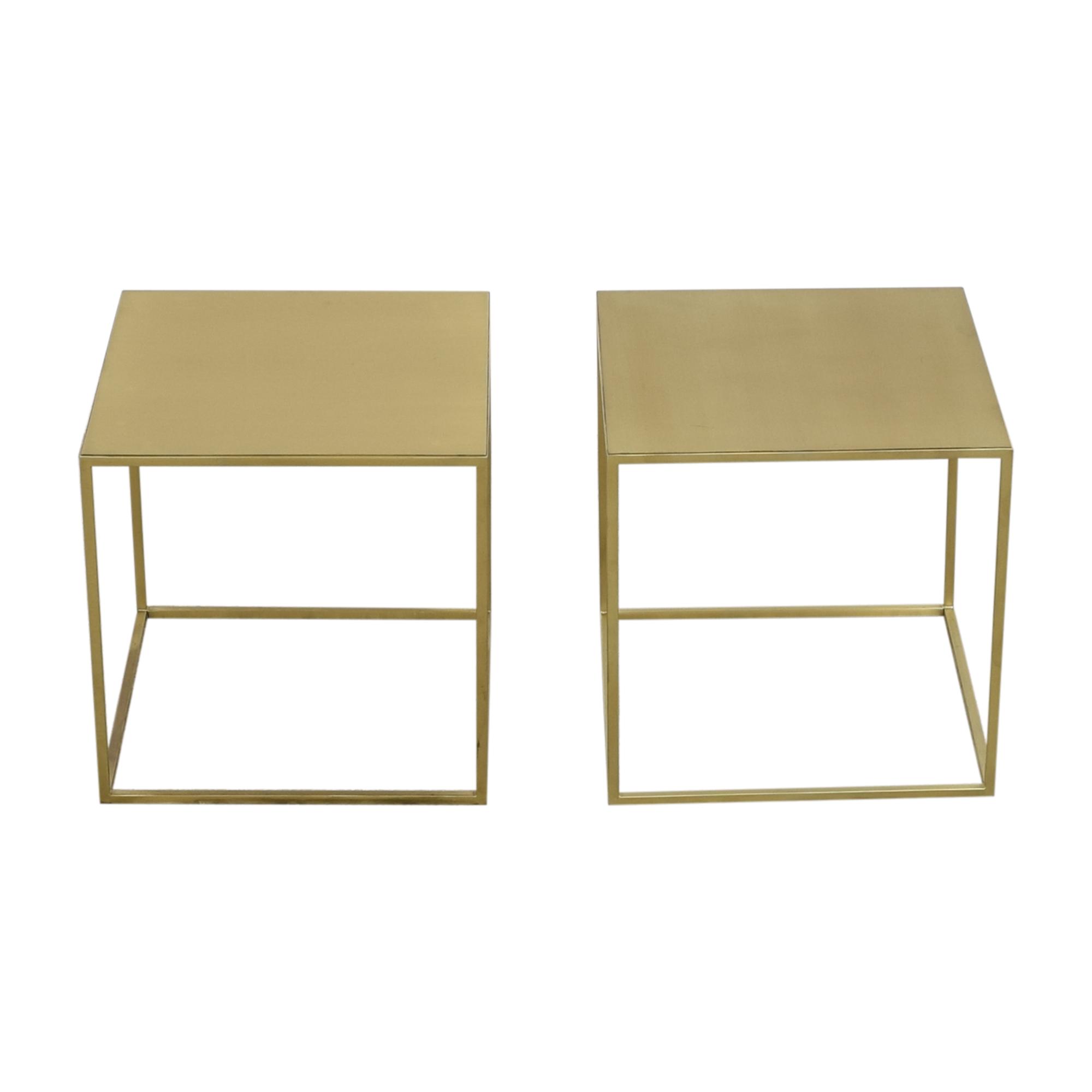Custom Cube End Tables dimensions