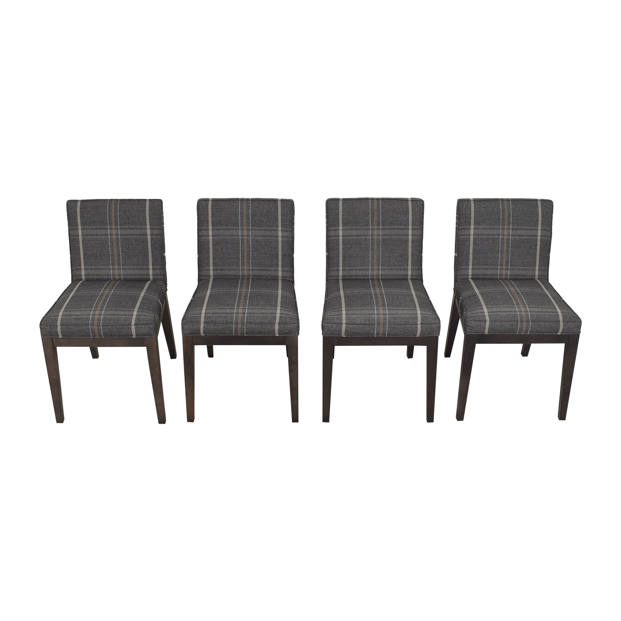 Room & Board Room & Board Ansel Plaid Dining Chairs ct
