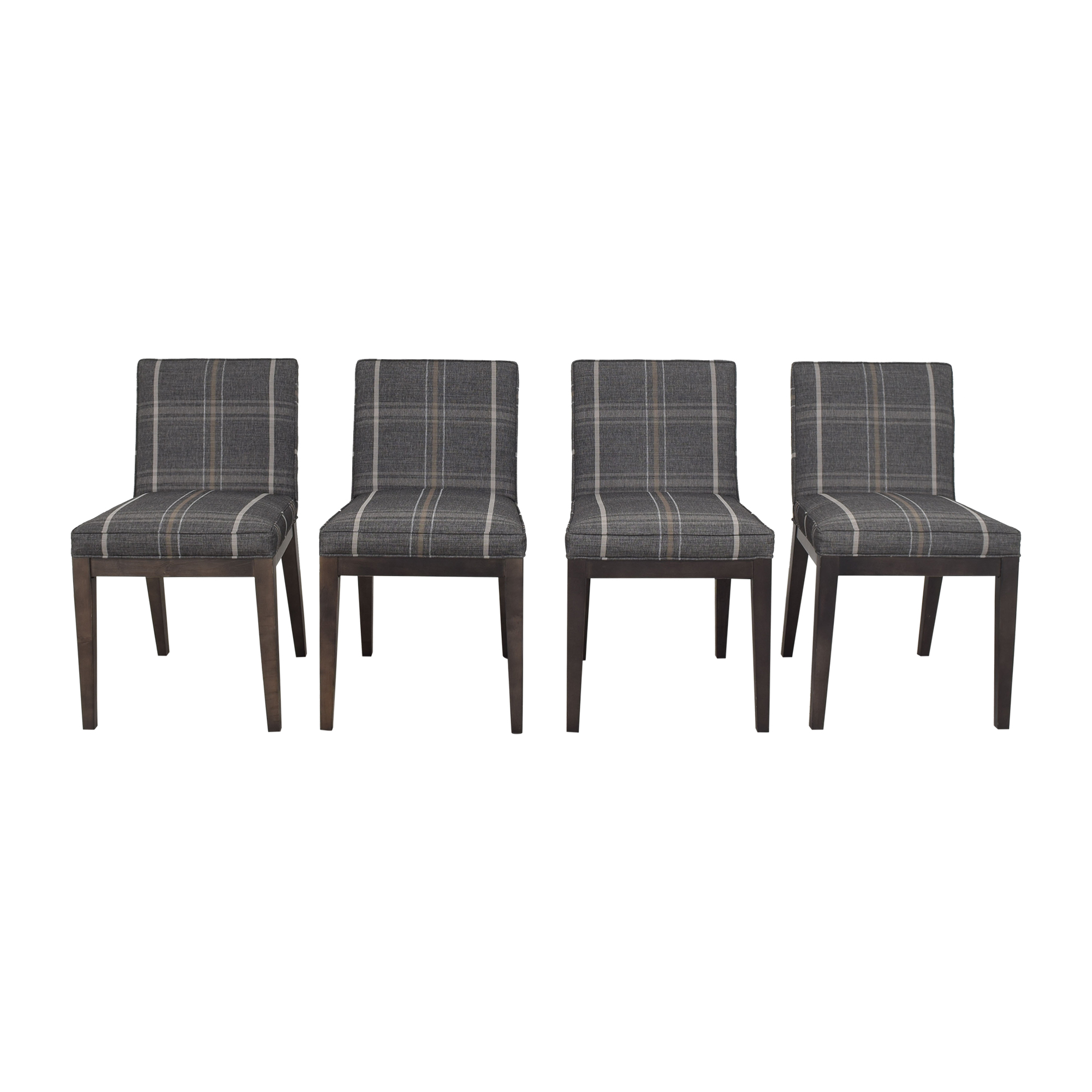 Room & Board Room & Board Ansel Plaid Dining Chairs discount