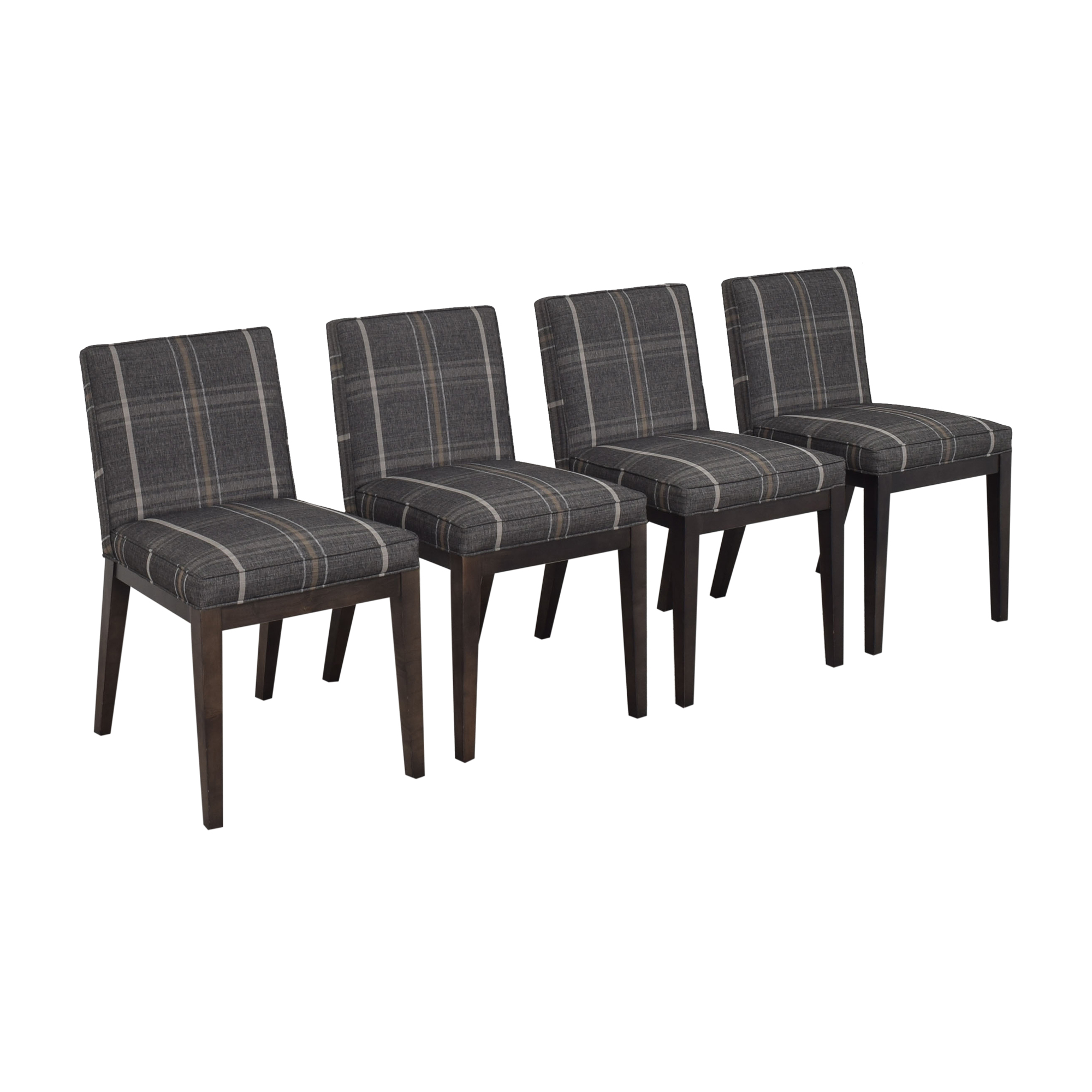buy Room & Board Ansel Plaid Dining Chairs Room & Board Chairs