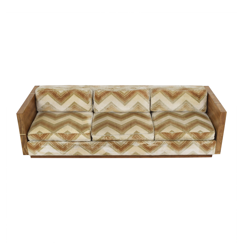 Bernhardt Flair Division Chevron Sofa / Sofas