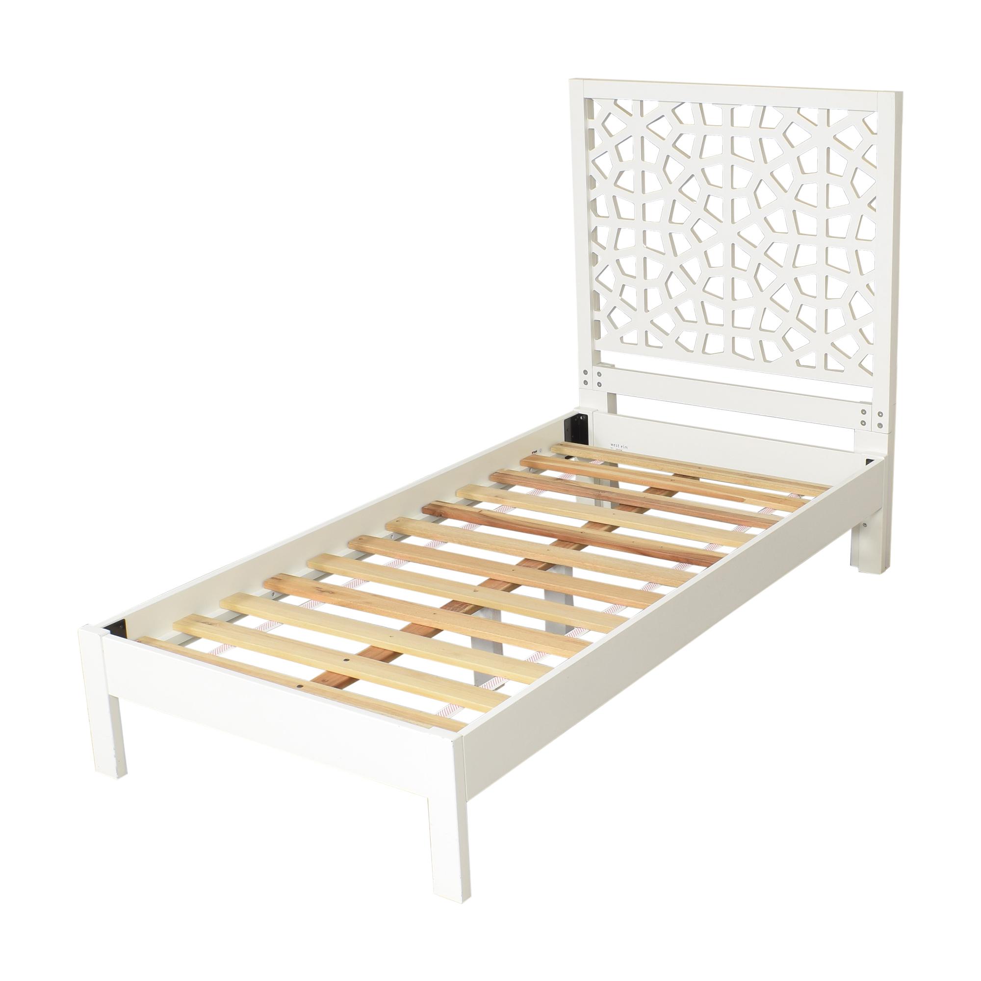 shop West Elm Morocco Twin Bed West Elm Bed Frames