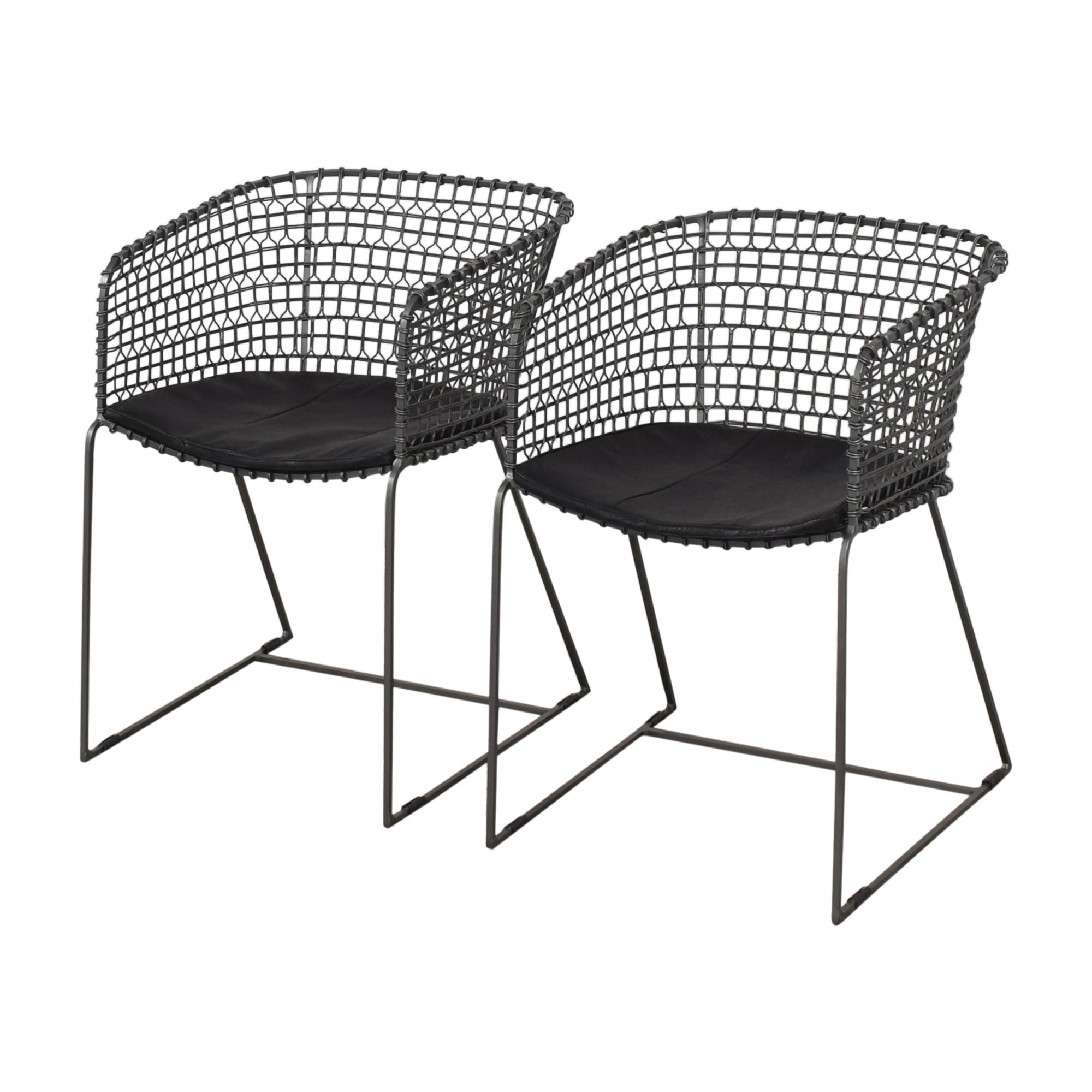 Crate & Barrel Crate & Barrel Tig Barrel Dining Chairs ct
