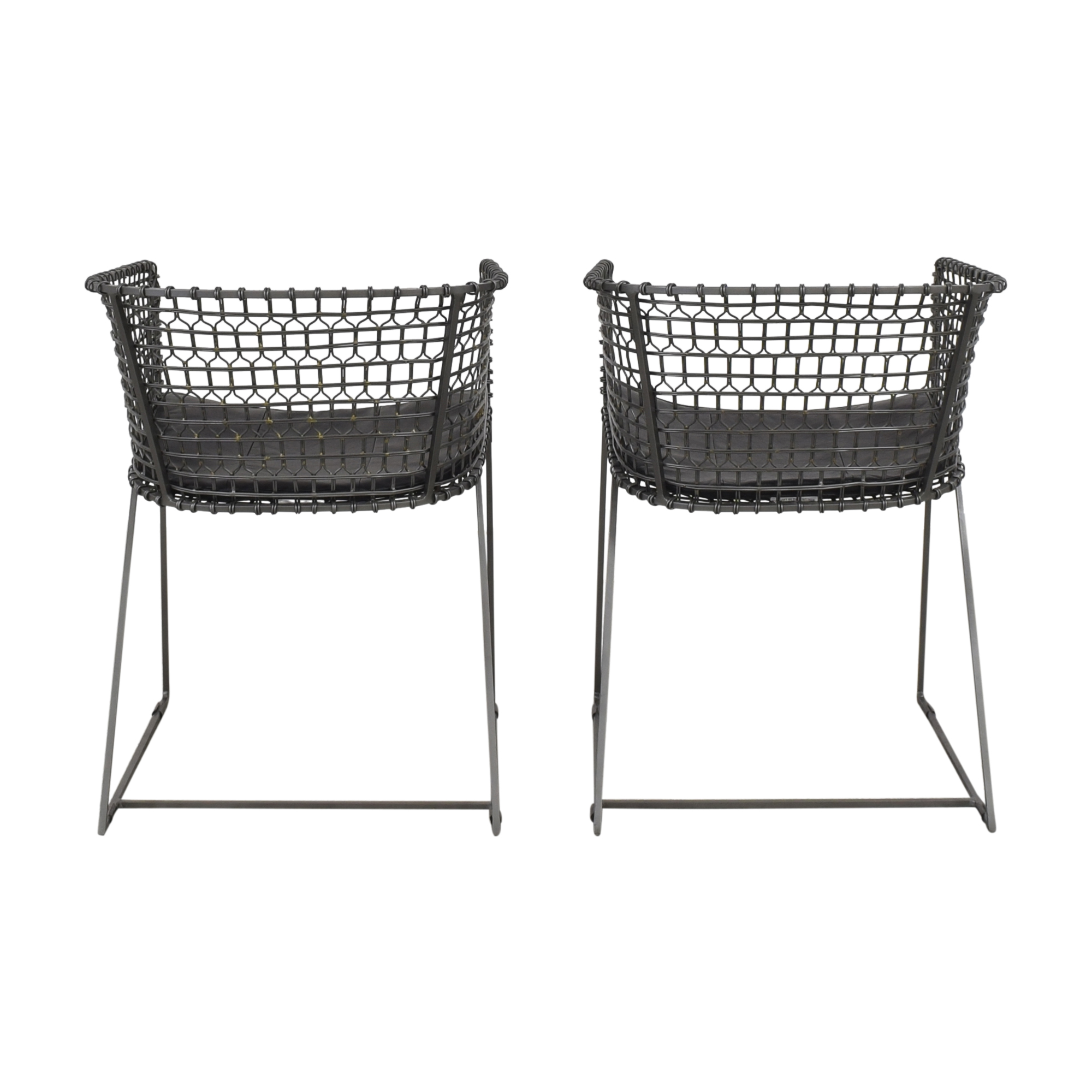 Crate & Barrel Crate & Barrel Tig Barrel Dining Chairs discount