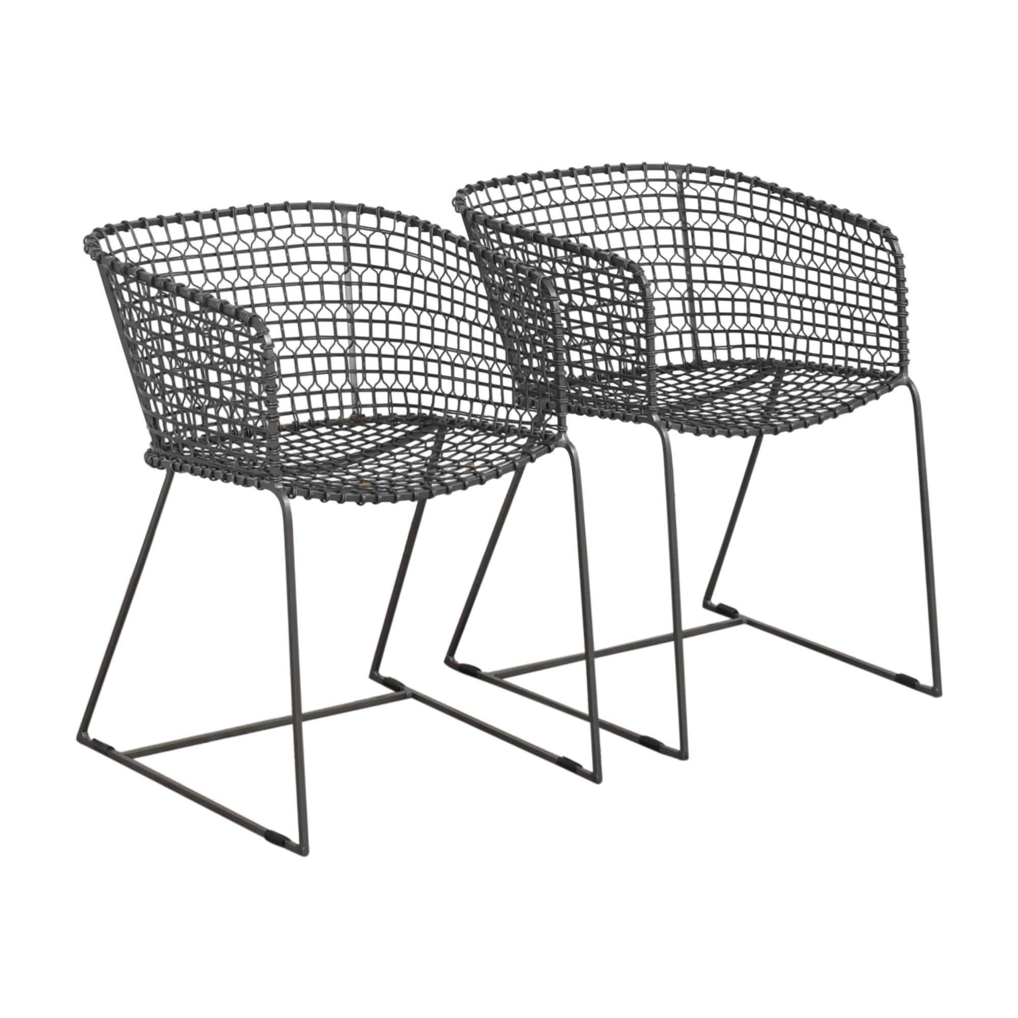 shop Crate & Barrel Tig Barrel Dining Chairs Crate & Barrel Chairs