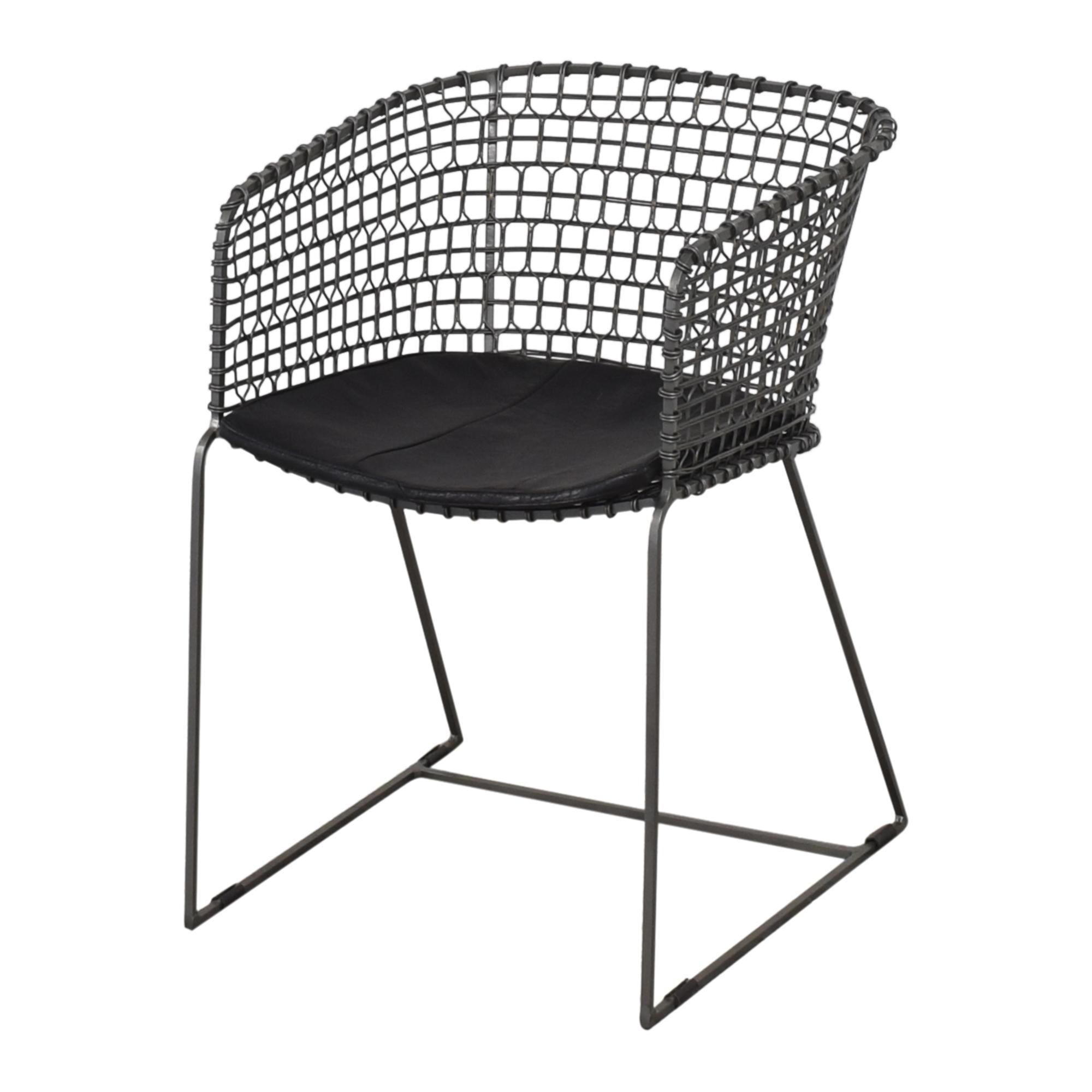 Crate & Barrel Tig Barrel Dining Chairs sale