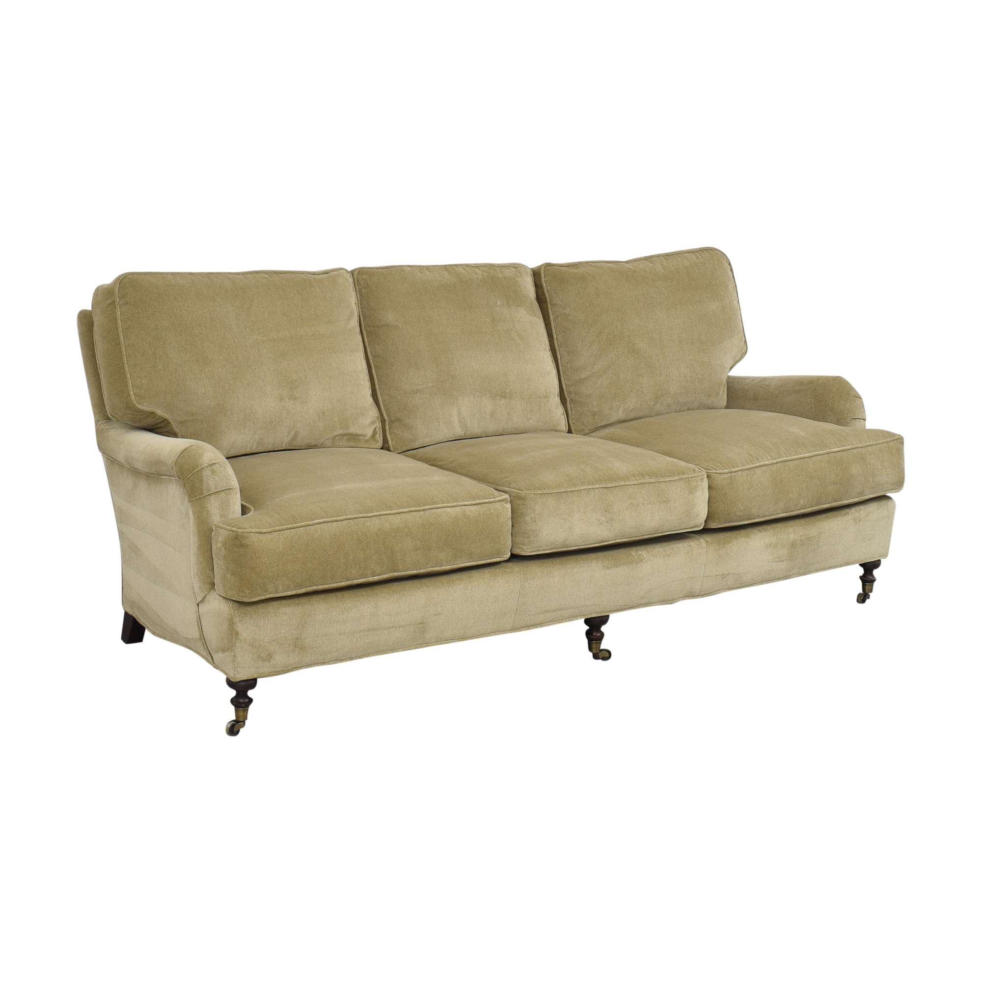 buy Lee Industries Three Cushion Sofa with Casters Lee Industries Sofas