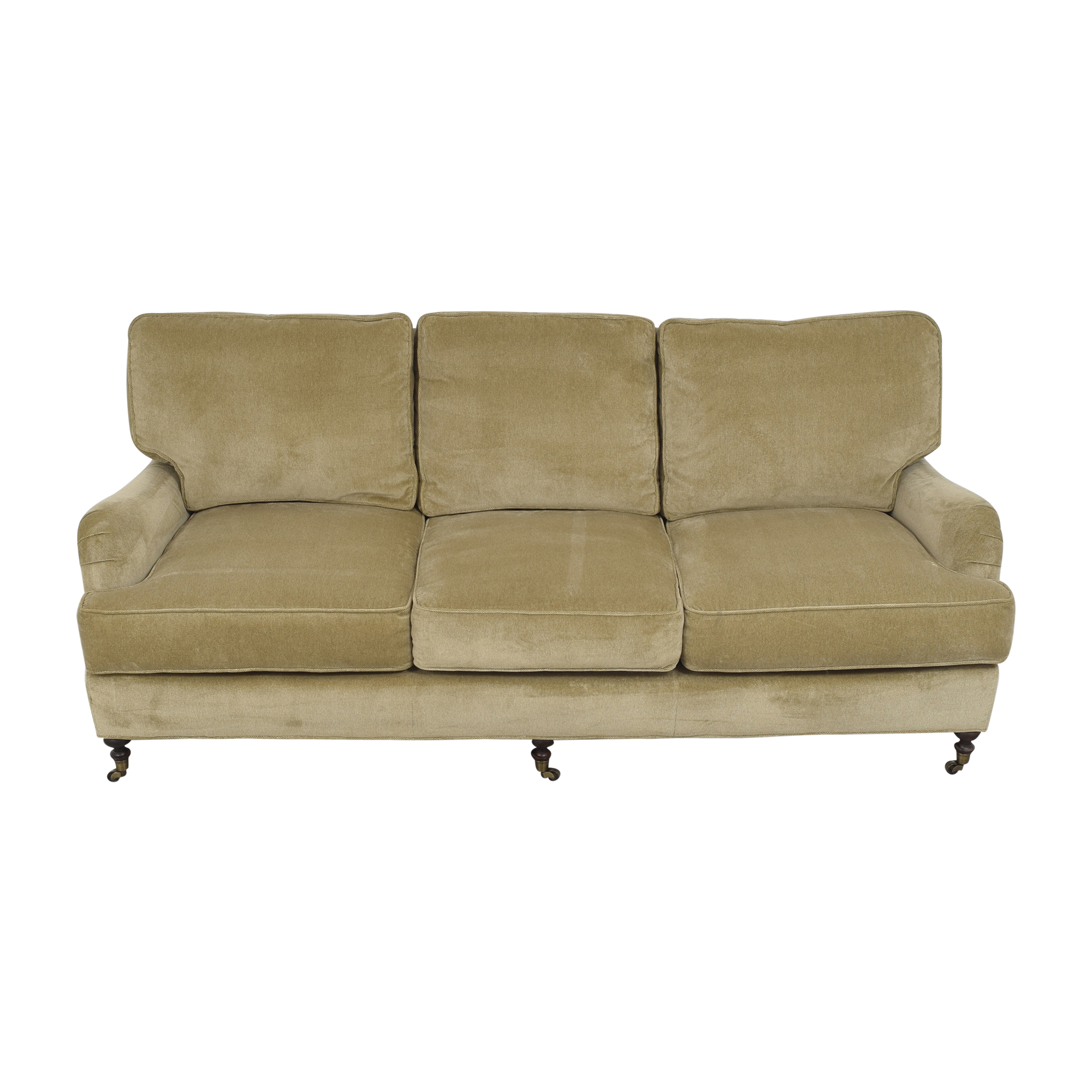 Lee Industries Lee Industries Three Cushion Sofa with Casters discount