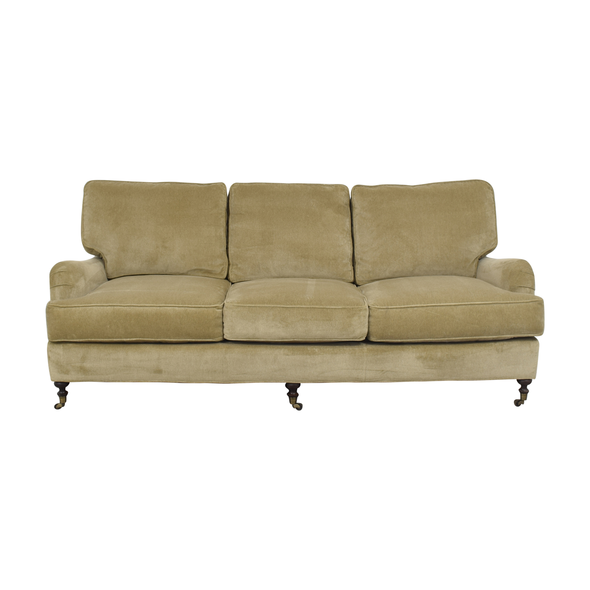 buy Lee Industries Three Cushion Sofa with Casters Lee Industries