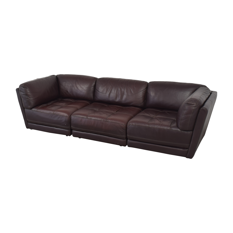 Raymour & Flanigan Tufted Sectional Sofa / Sofas