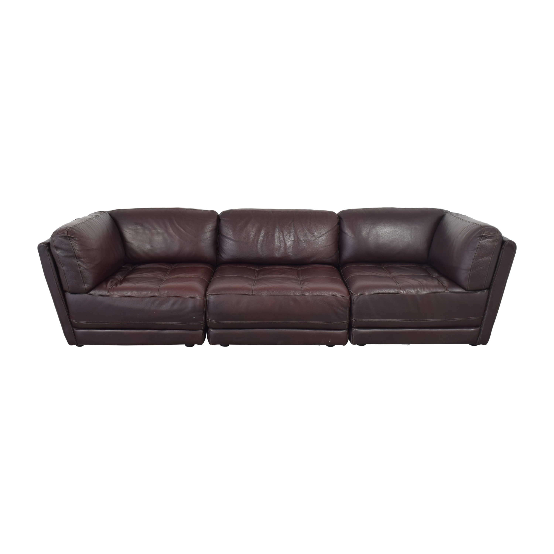 Raymour & Flanigan Raymour & Flanigan Tufted Sectional Sofa nj