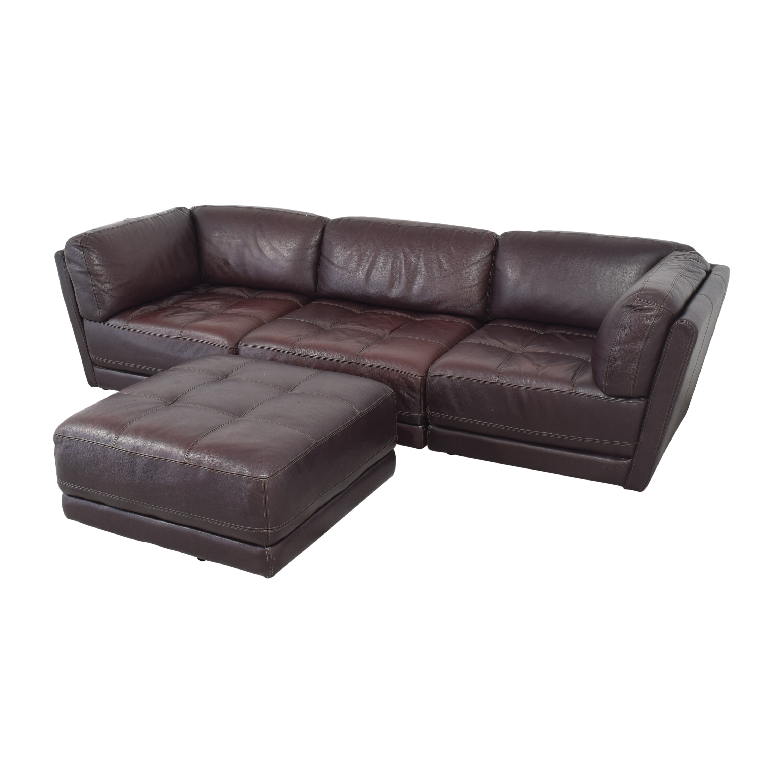 Raymour & Flanigan Raymour & Flanigan Tufted Sectional Sofa