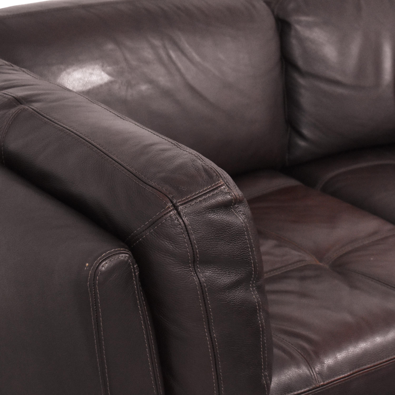 Raymour & Flanigan Raymour & Flanigan Tufted Sectional Sofa used