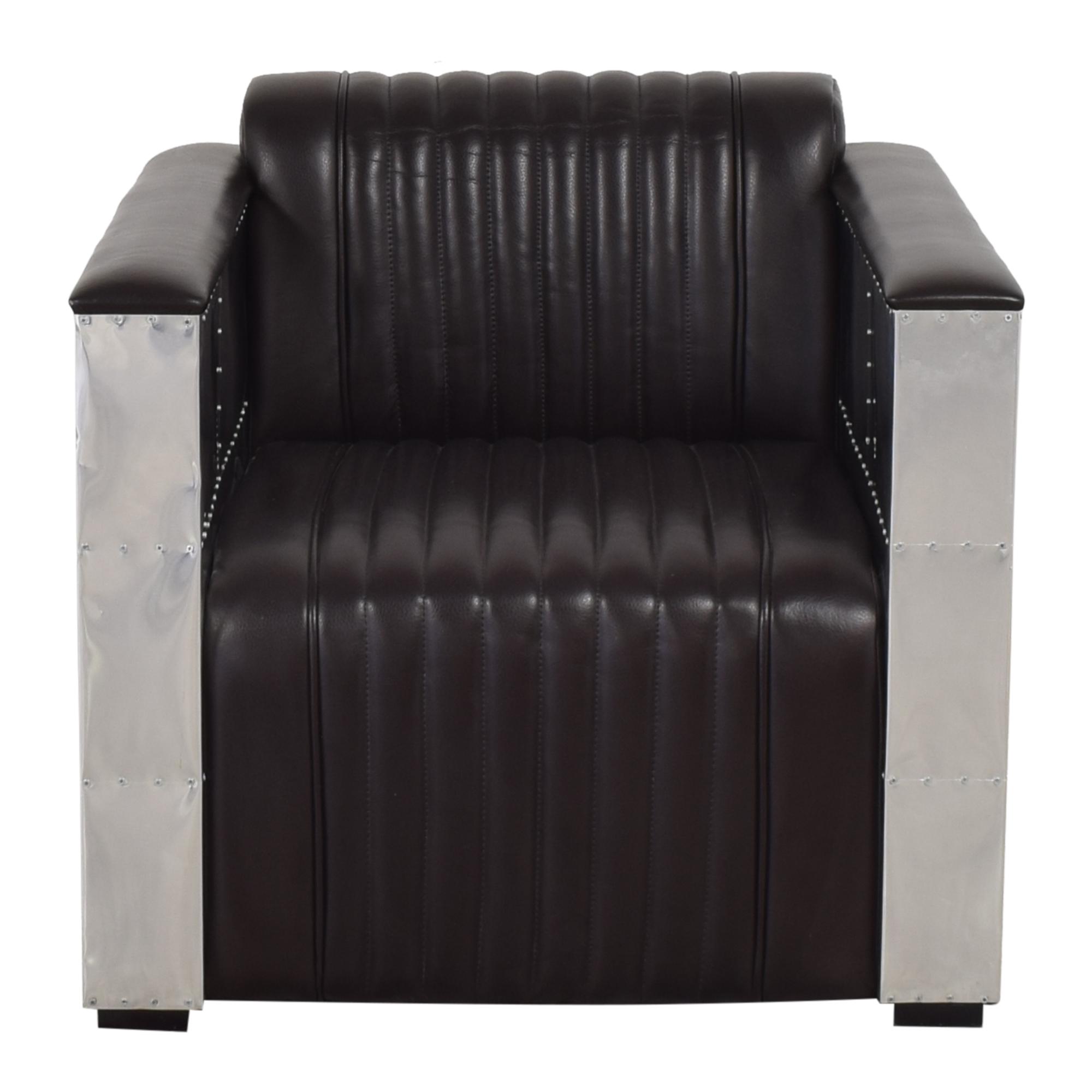Tuxedo-Style Aviator Chair  second hand