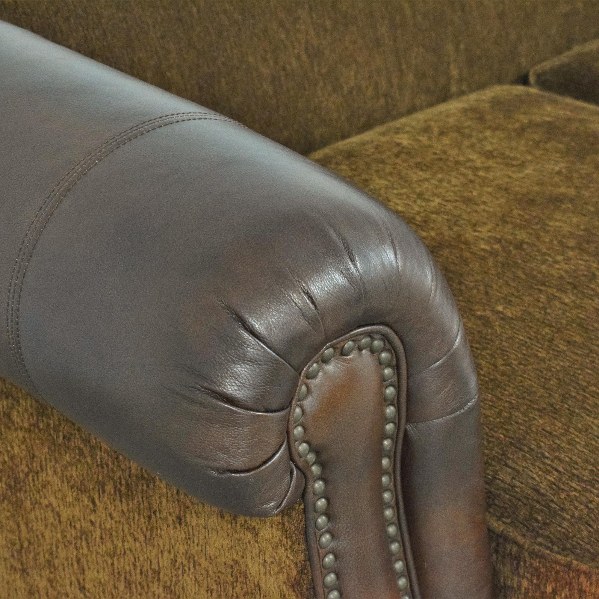 shop Fortunoff Nailhead Roll Arm Sofa Fortunoff
