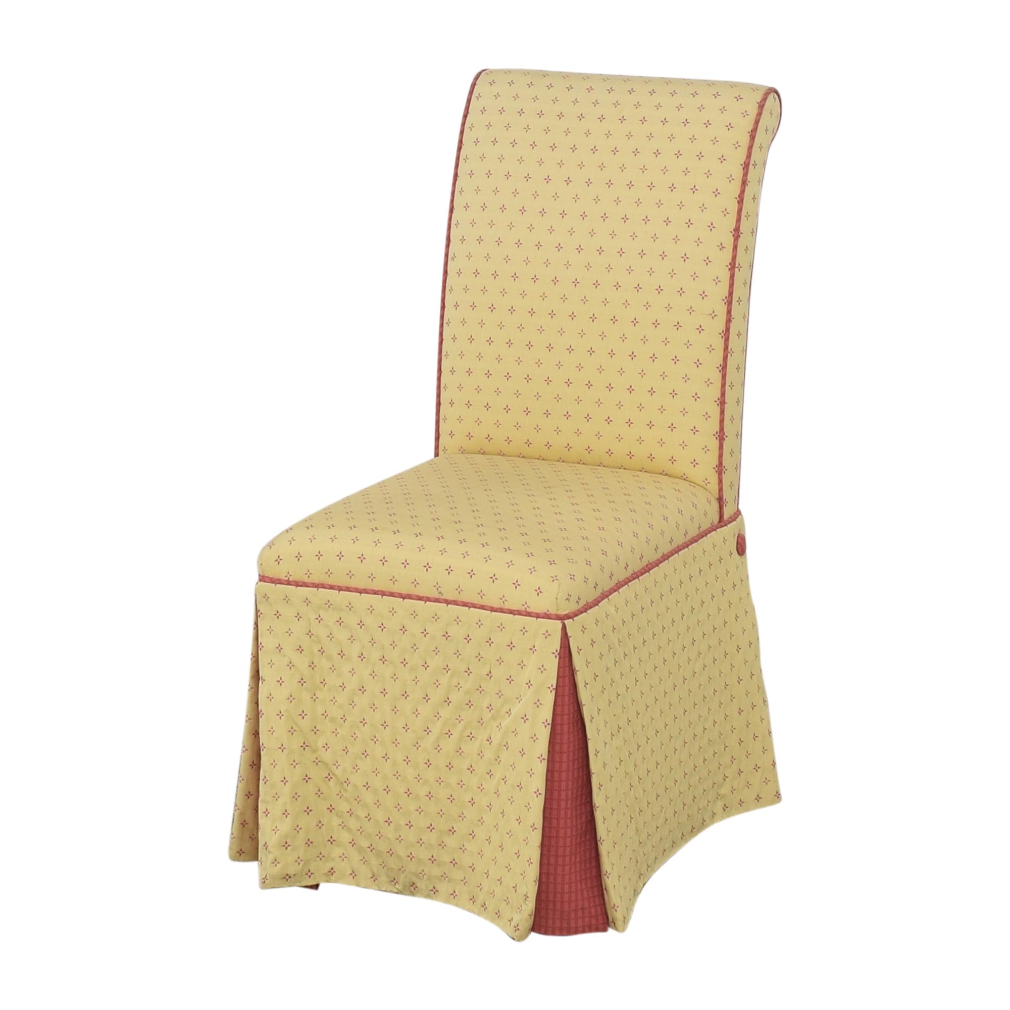Custom Skirted Dining Chairs ma