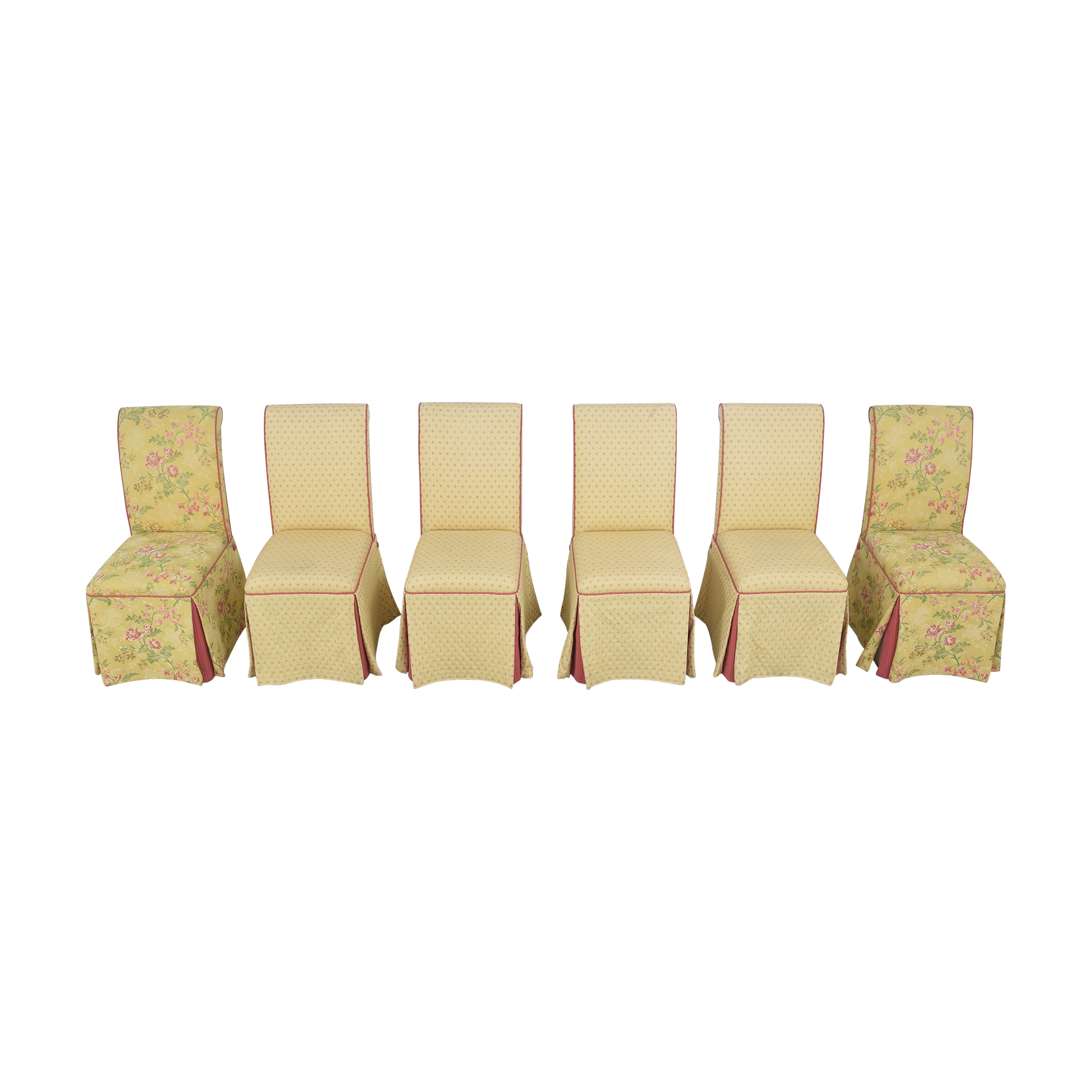 shop Custom Skirted Dining Chairs