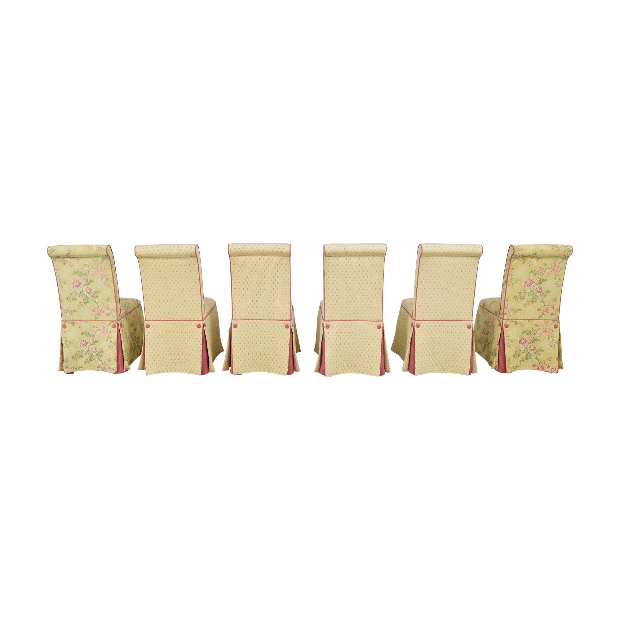 Custom Skirted Dining Chairs sale
