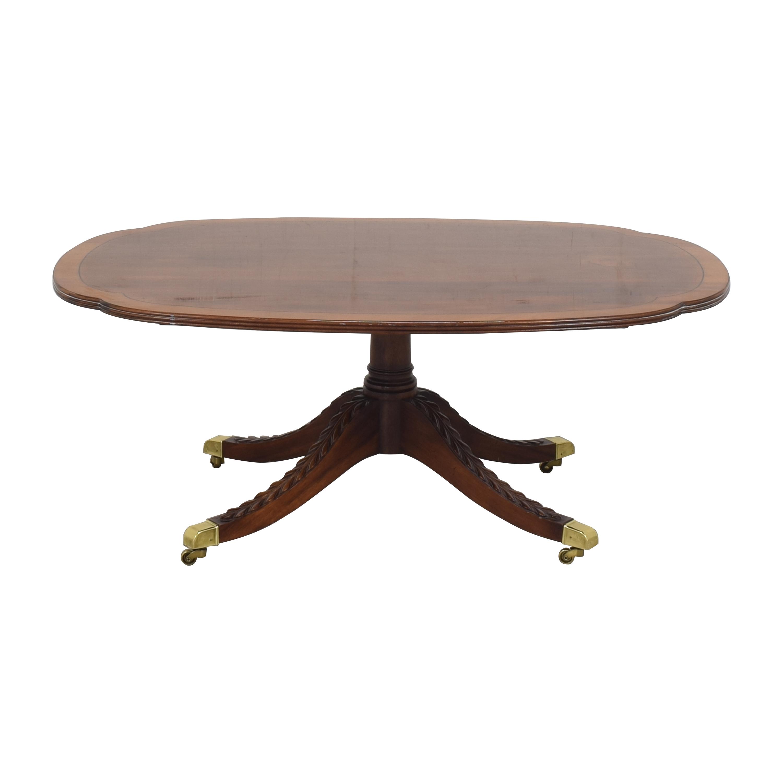 Stickley Furniture Stickley Furniture Pedestal Cocktail Table for sale