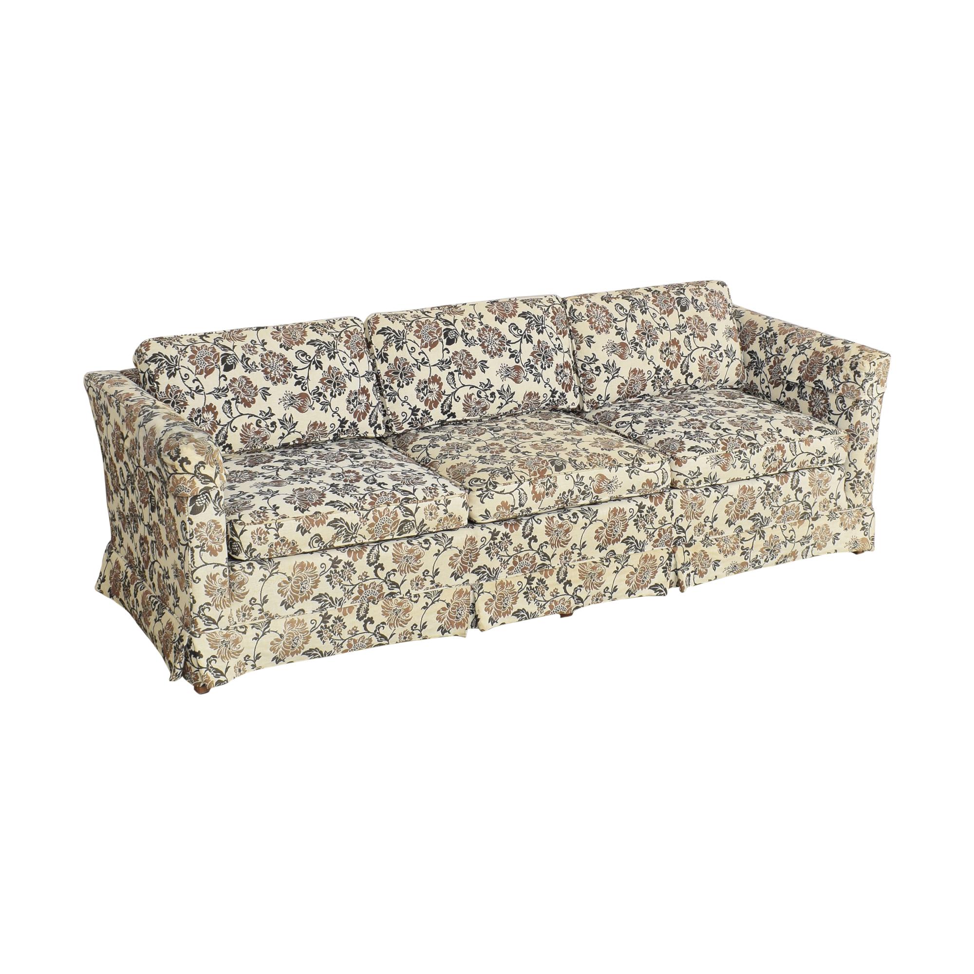 Ethan Allen Ethan Allen Skirted Three Cushion Sofa pa