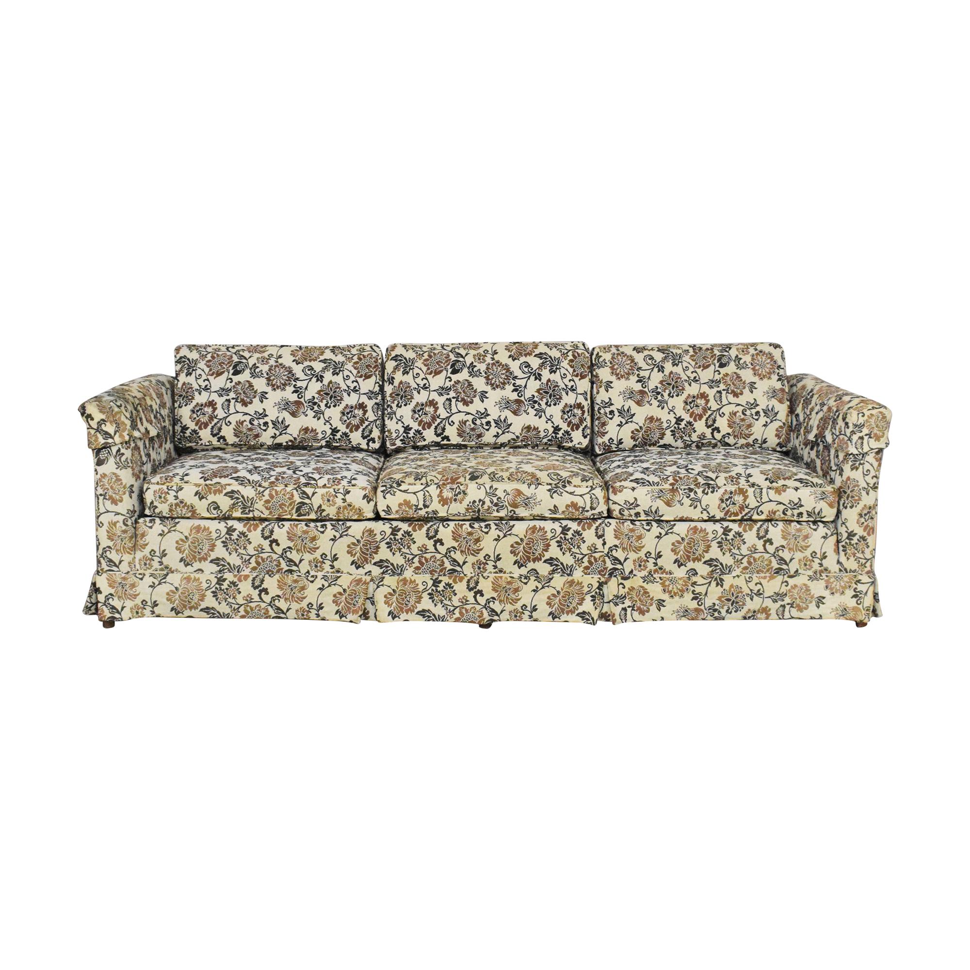 buy Ethan Allen Skirted Three Cushion Sofa Ethan Allen Classic Sofas