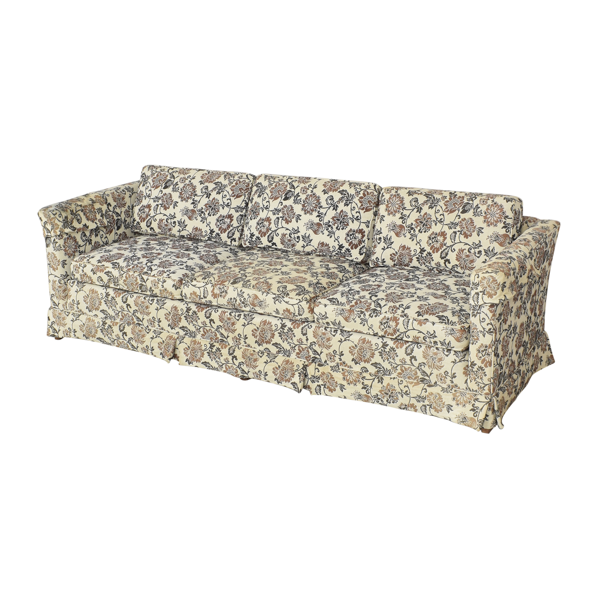 Ethan Allen Ethan Allen Skirted Three Cushion Sofa discount