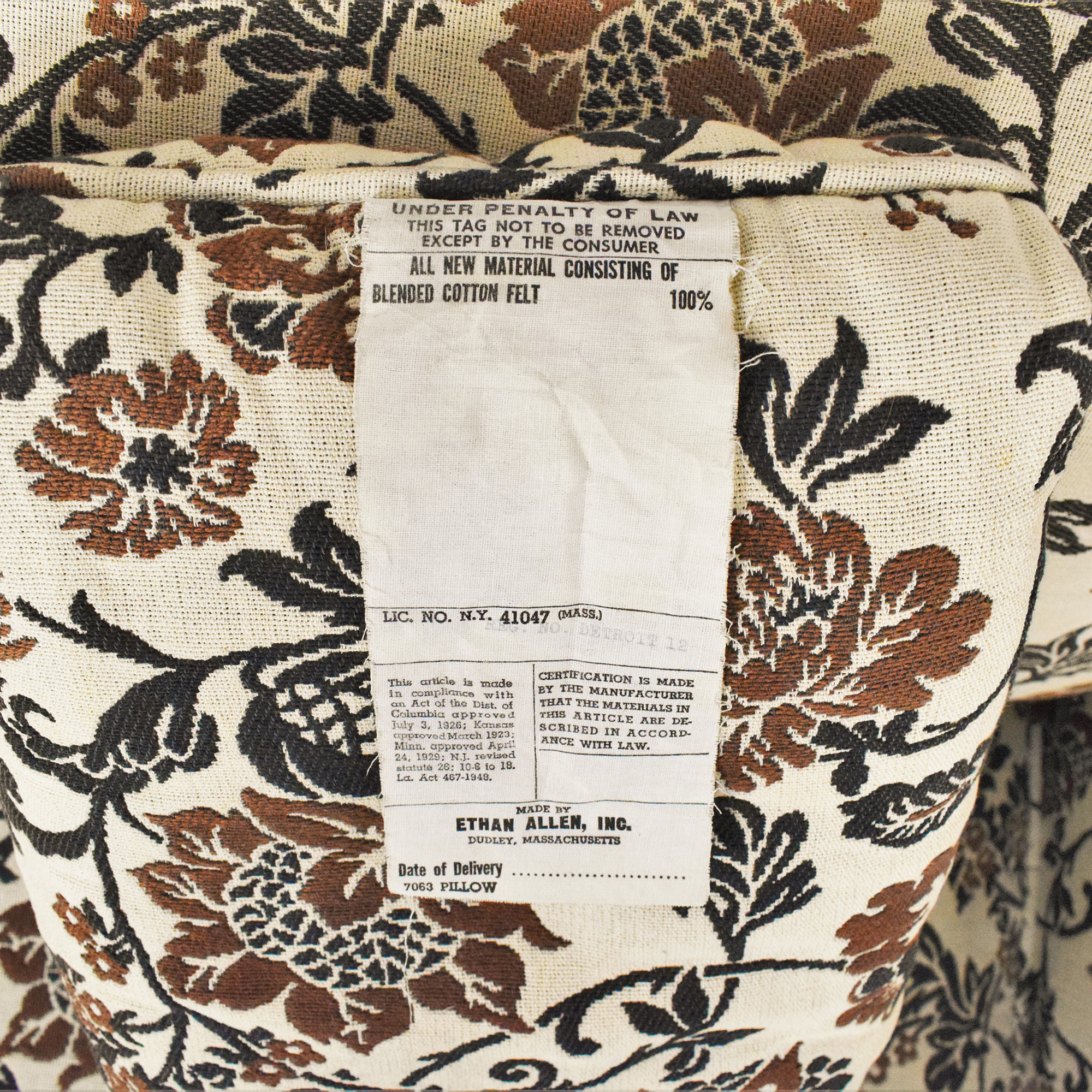 buy Ethan Allen Skirted Three Cushion Sofa Ethan Allen