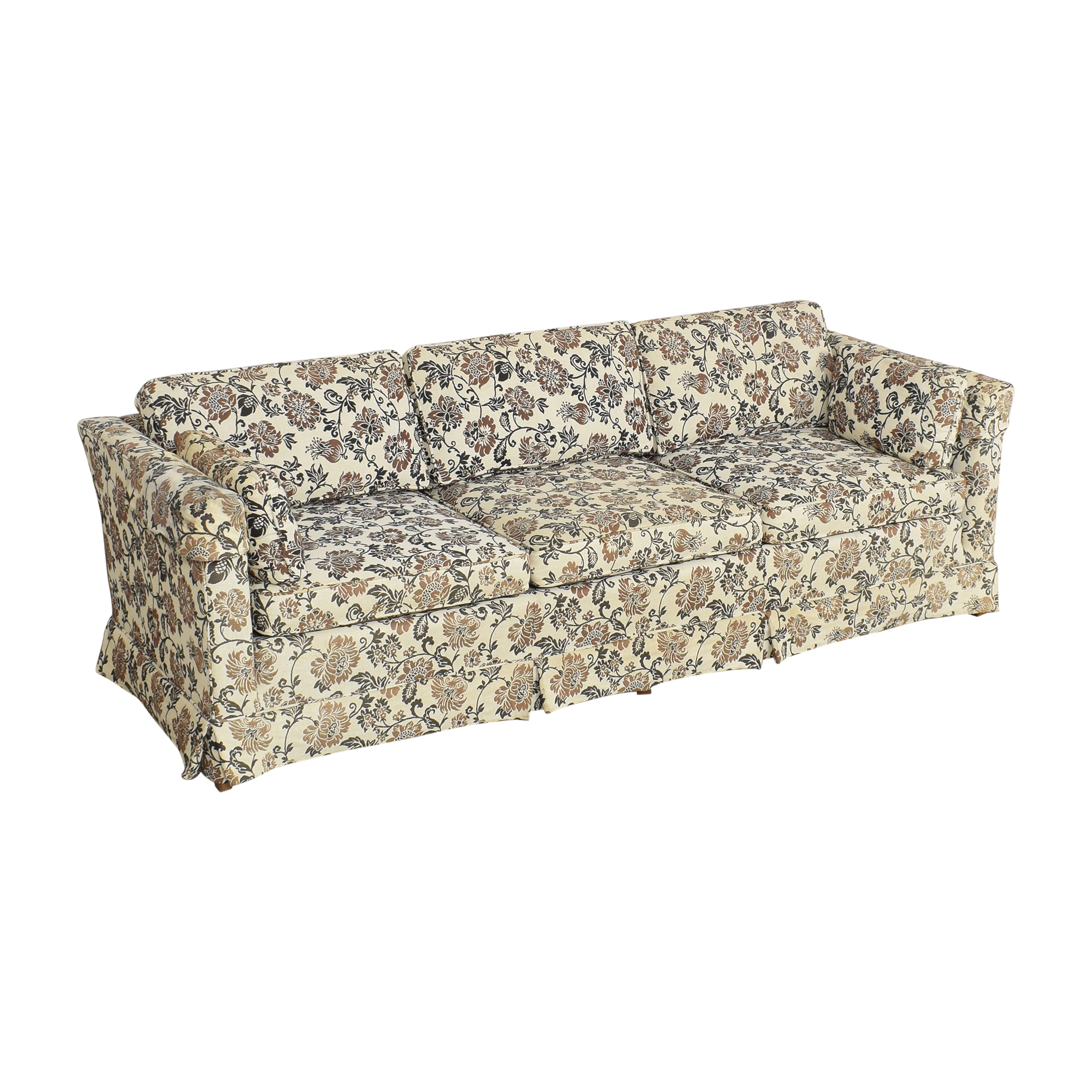 Ethan Allen Ethan Allen Skirted Three Cushion Sofa coupon