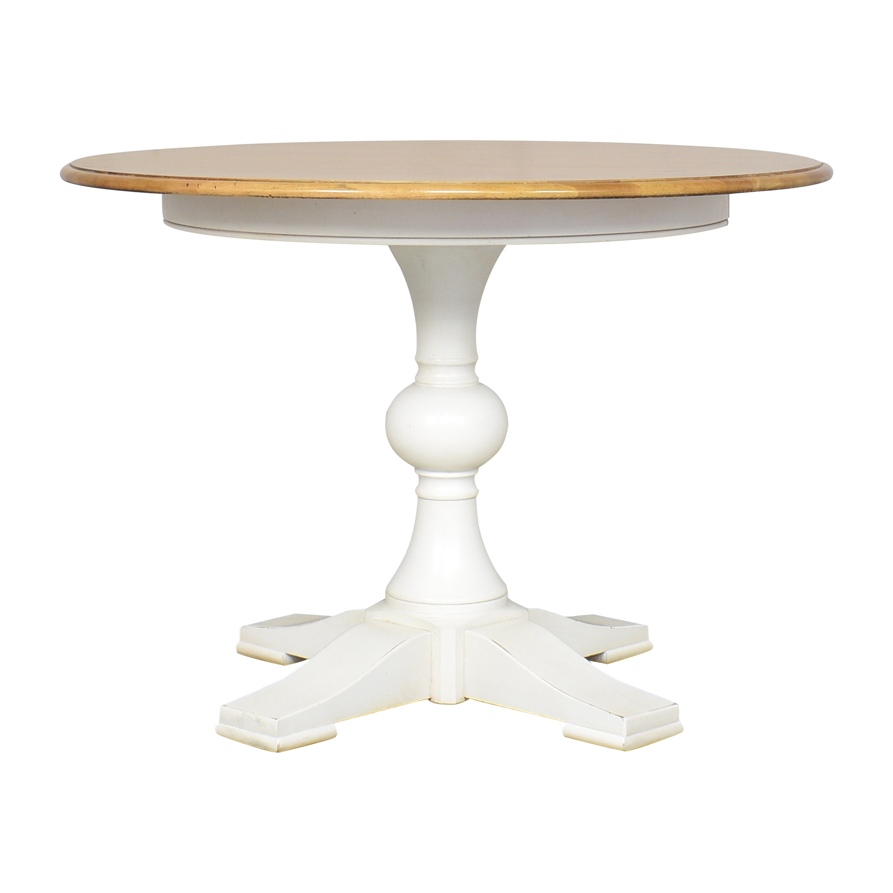 shop Ethan Allen Cooper Round Dining Table Ethan Allen Dinner Tables