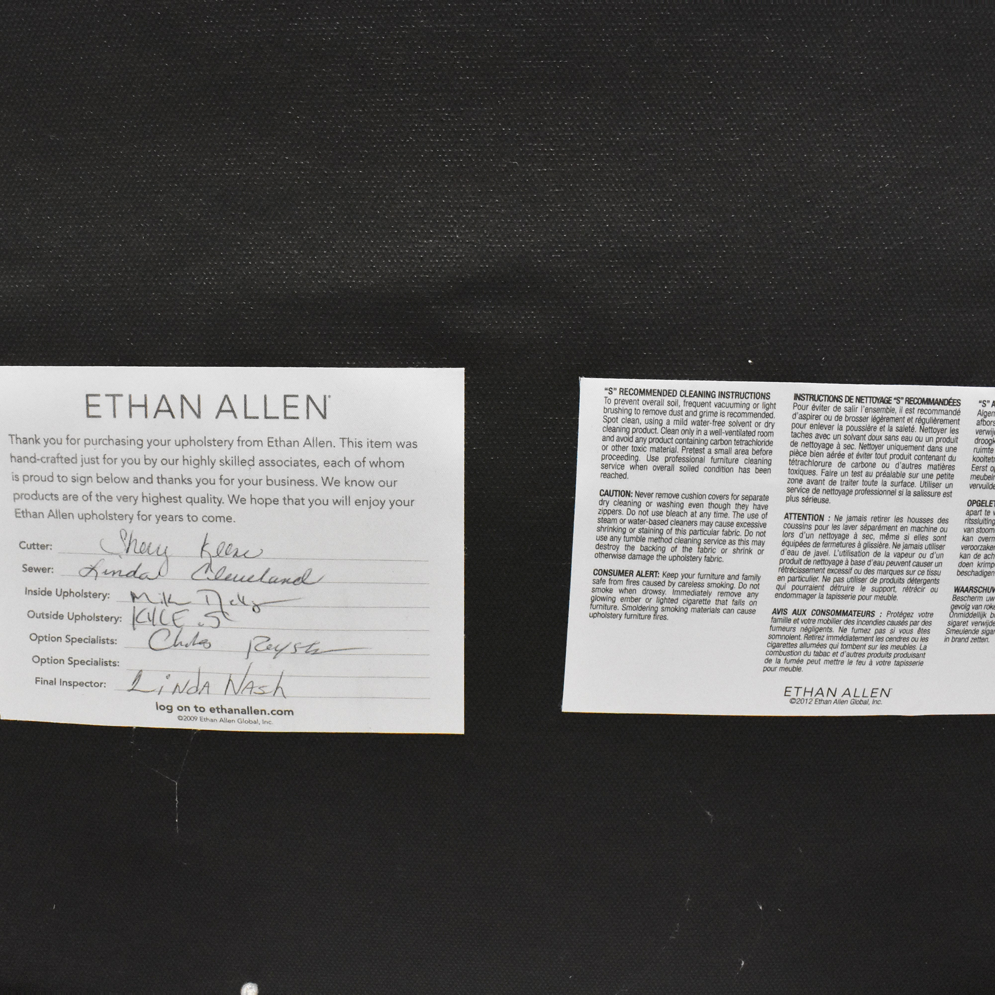 Ethan Allen Ethan Allen Armless Accent Chair coupon