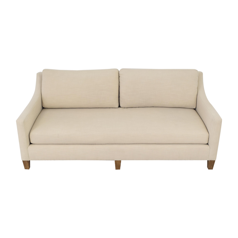 Modern Bench Cushion Sofa beige