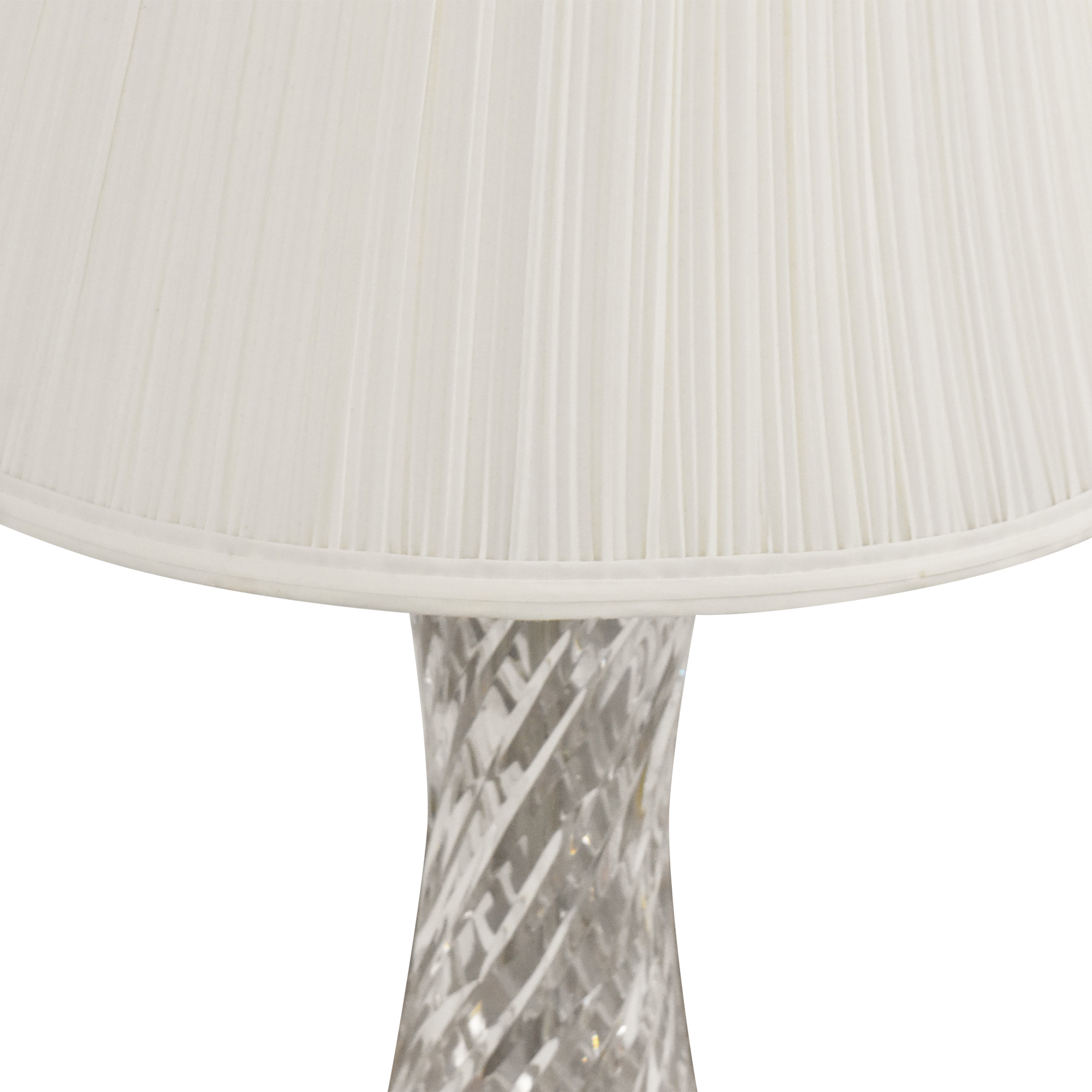 Waterford Waterford Table Lamps off white & gold