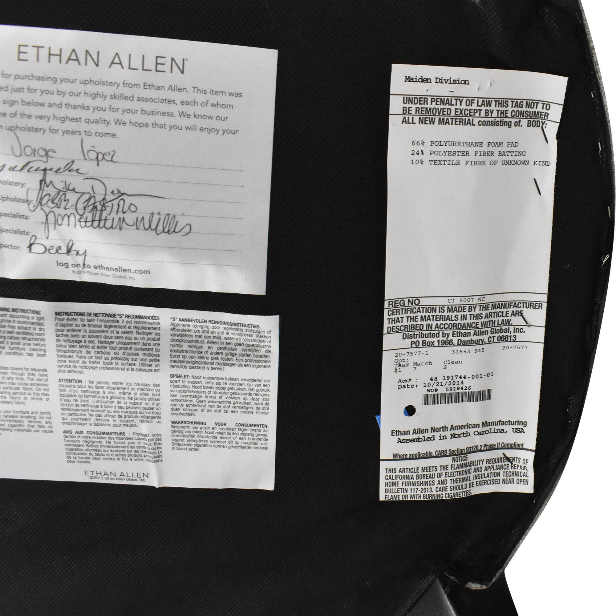 Ethan Allen Ethan Allen Armless Accent Chair dimensions