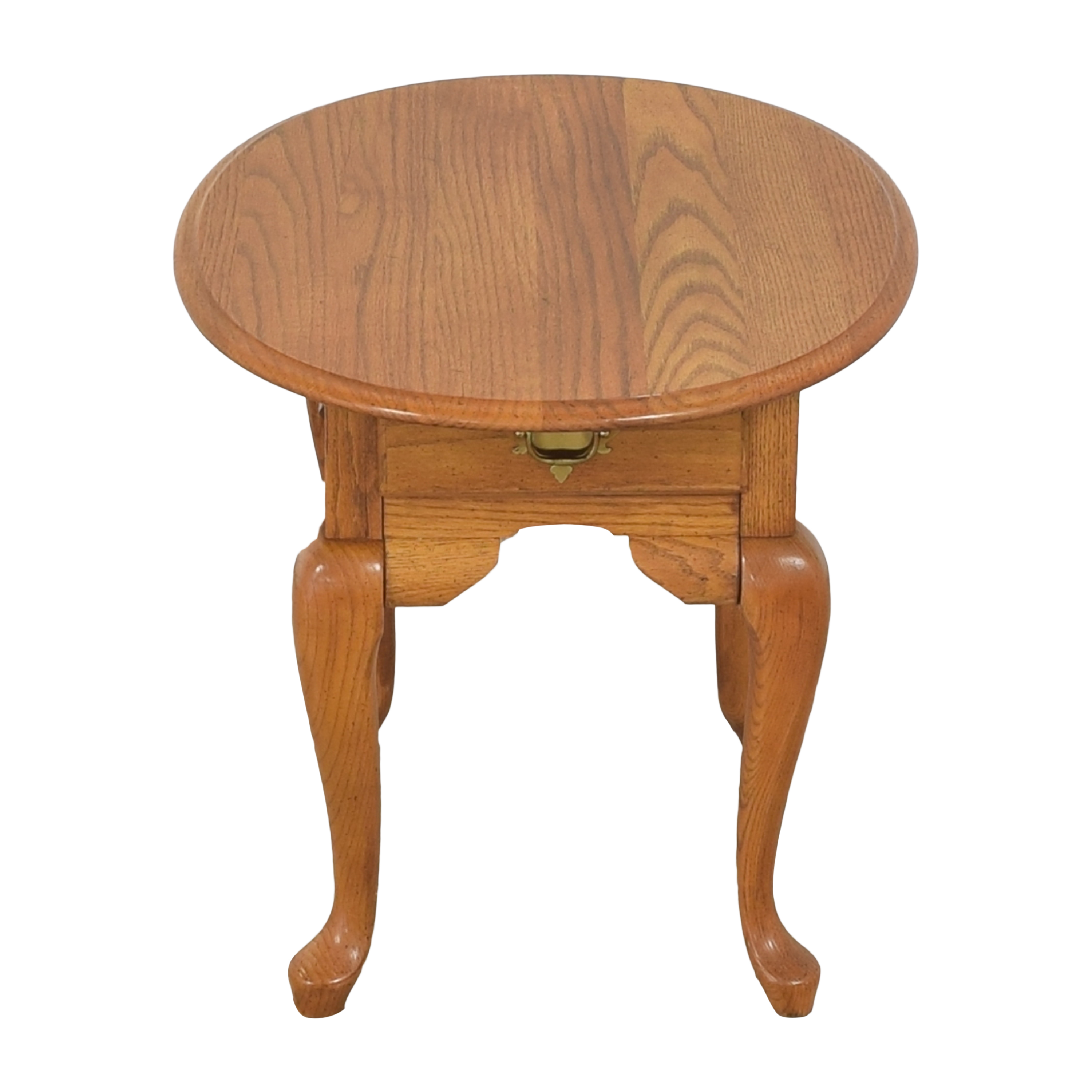 Broyhill Furniture Broyhill Single Drawer Round End Table dimensions