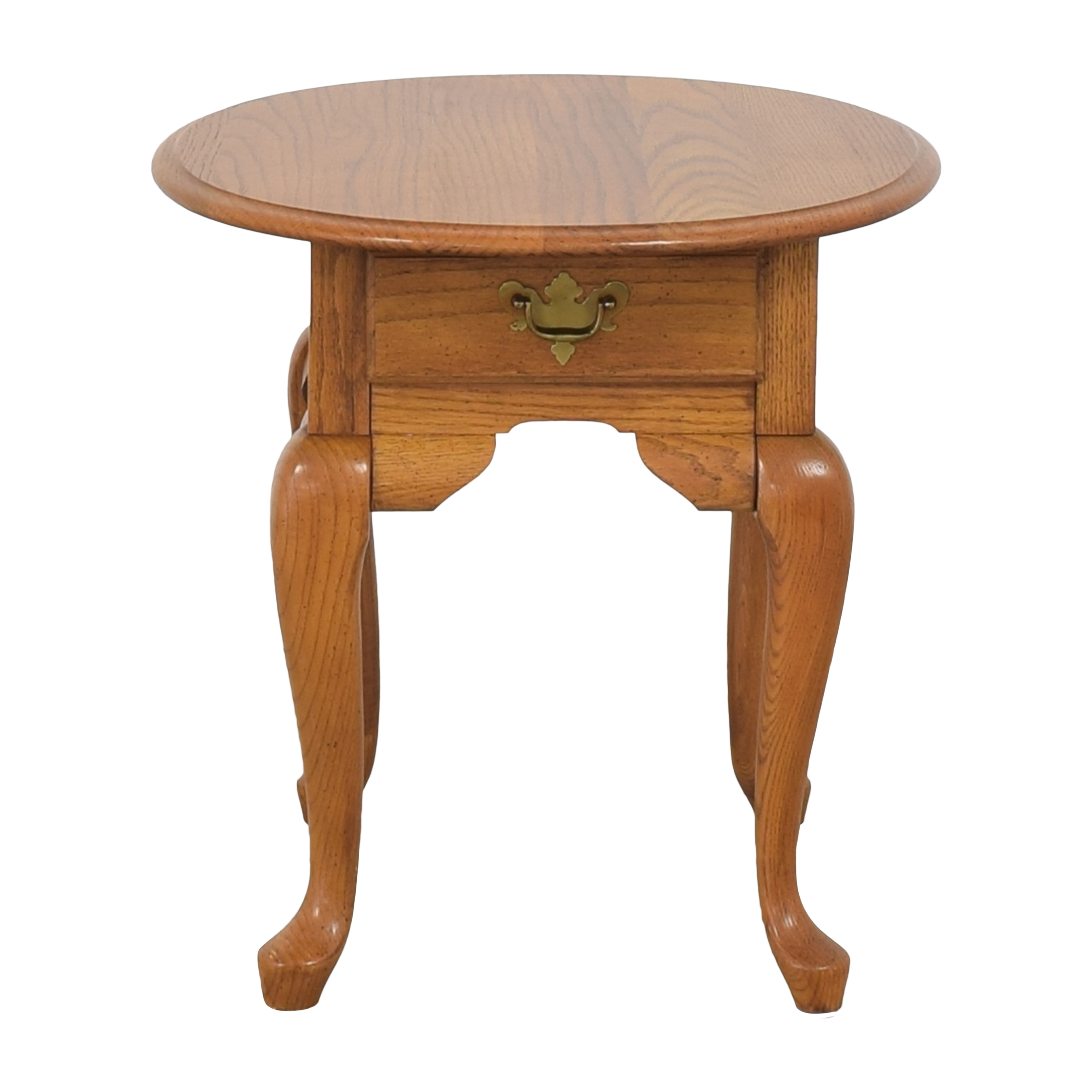 Broyhill Furniture Broyhill Single Drawer Round End Table on sale
