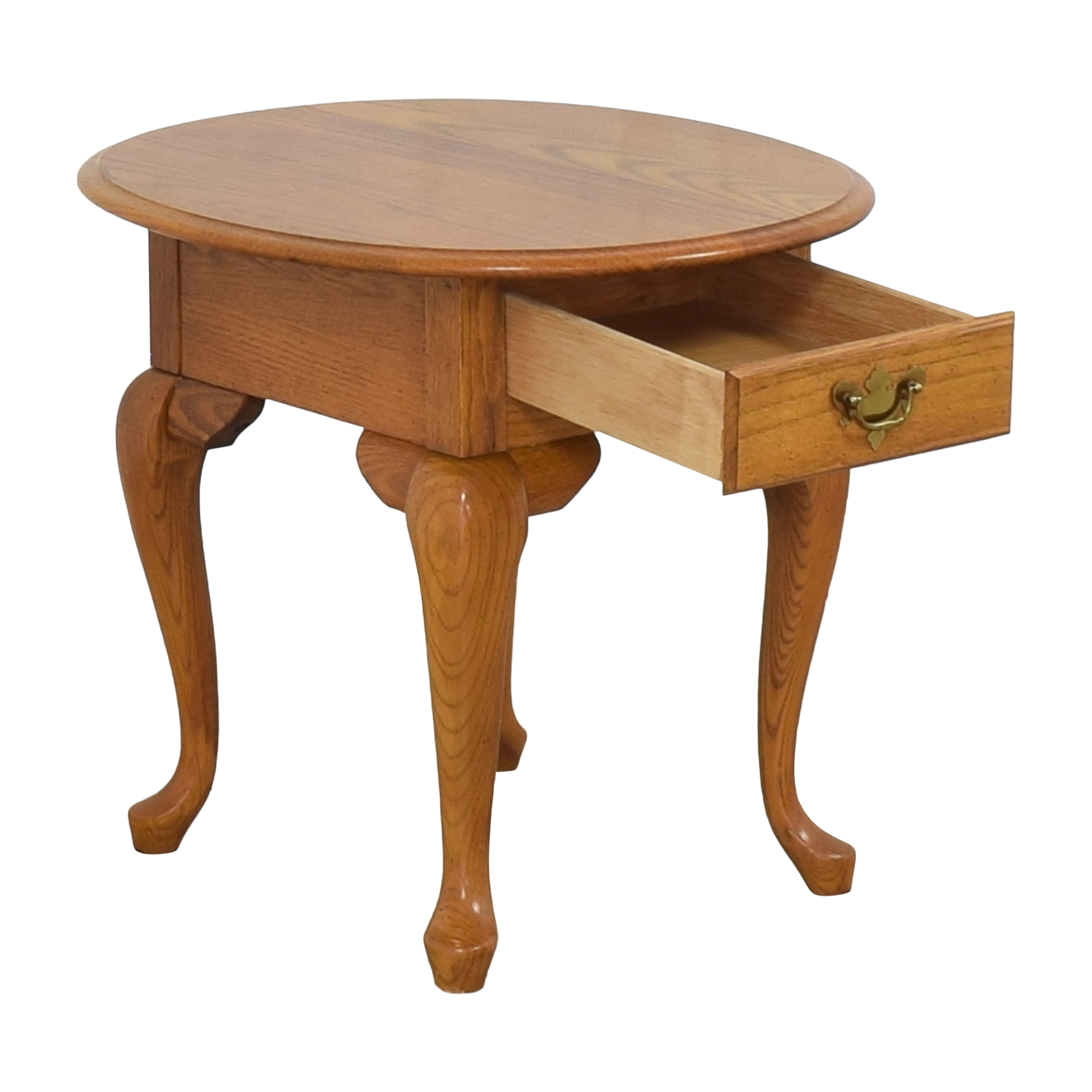 Broyhill Single Drawer Round End Table / Tables