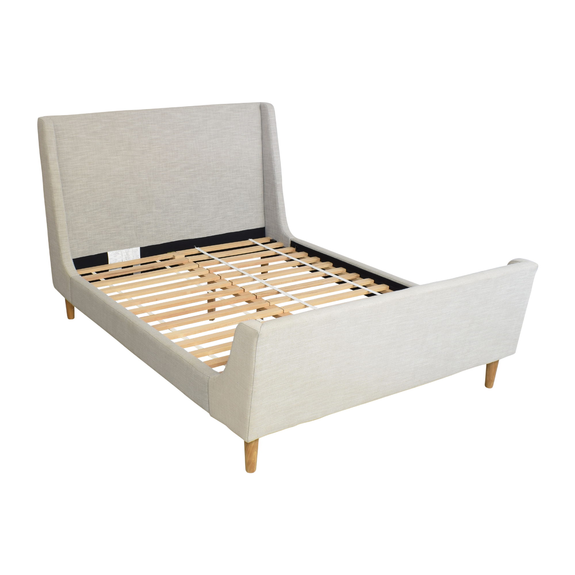 West Elm West Elm Upholstered Sleigh Queen Bed pa