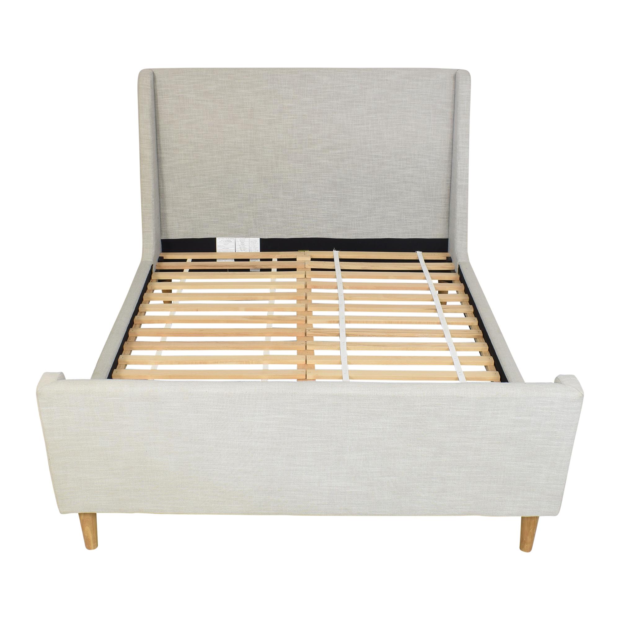 shop West Elm Upholstered Sleigh Queen Bed West Elm Bed Frames