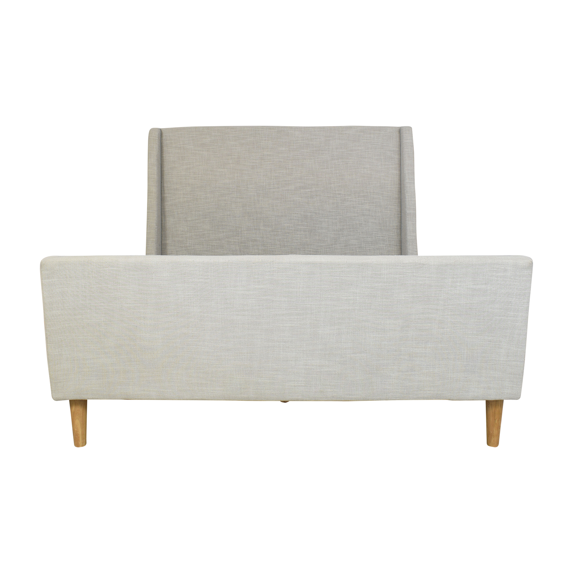 West Elm West Elm Upholstered Sleigh Queen Bed dimensions