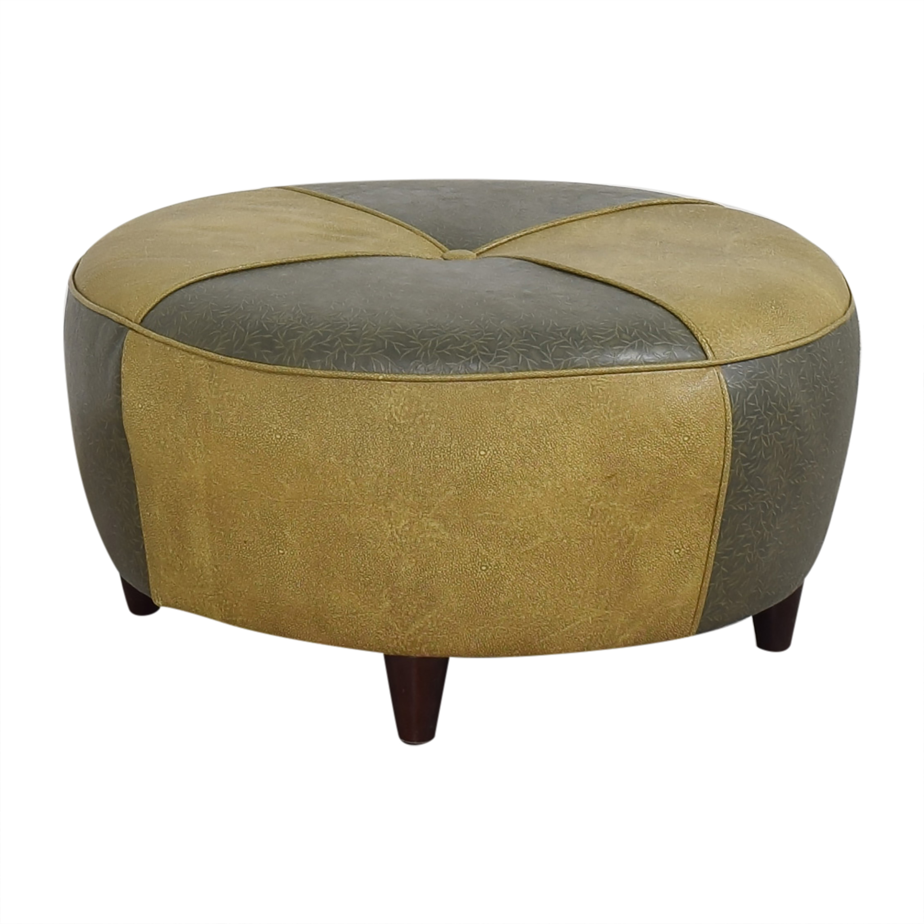 Charter Furniture Charter Furniture Two Tone Round Ottoman dimensions